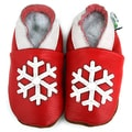 Snowflake Soft Sole Leather Baby Shoes