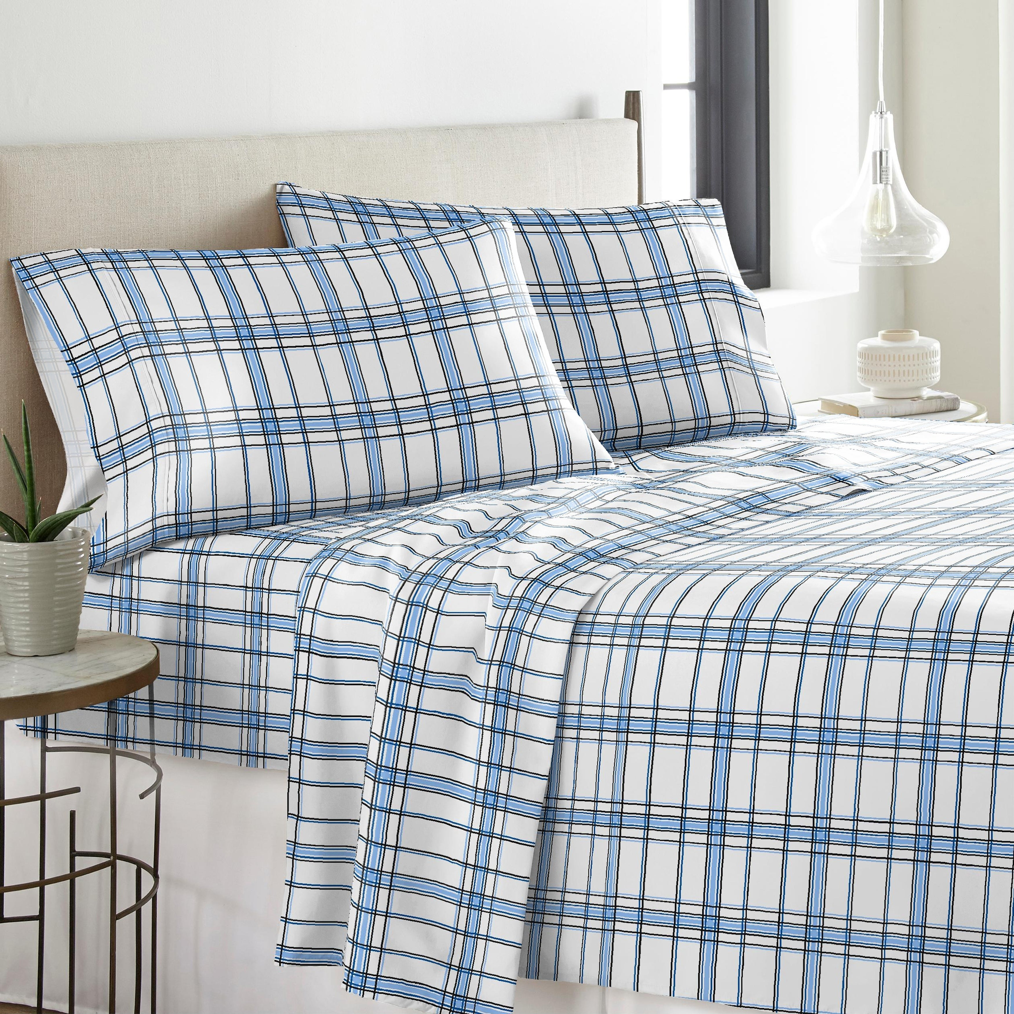 Solid Or Print Cotton Heavyweight Flannel Sheet Set Free Shipping On Orders Over 45 6362355