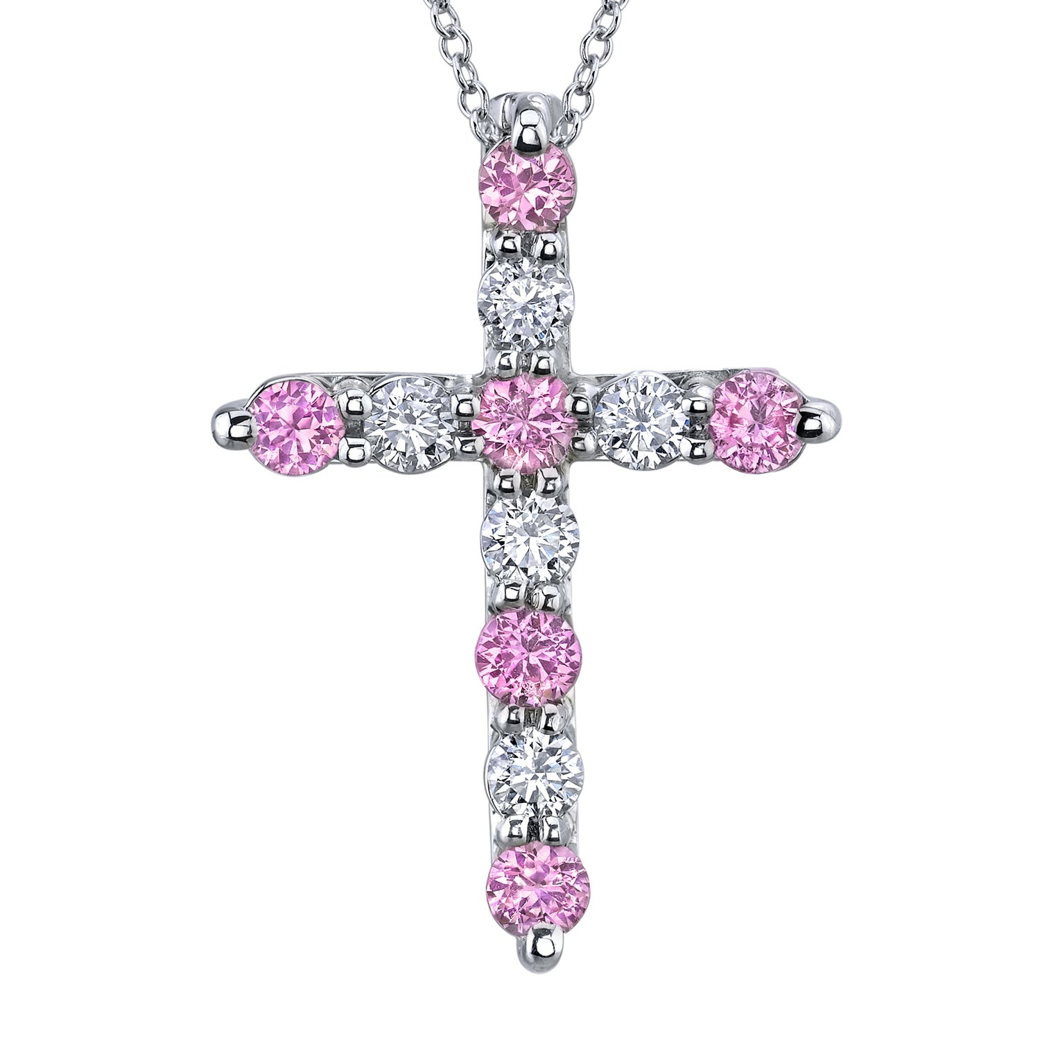 with gold in diamonds sapphire necklace pink created pendant white