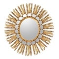 Mohena Wood 'Sunflower' Mirror  , Handmade in Peru