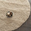 Safavieh California Cozy Plush Beige Shag Rug (6' 7 Round)