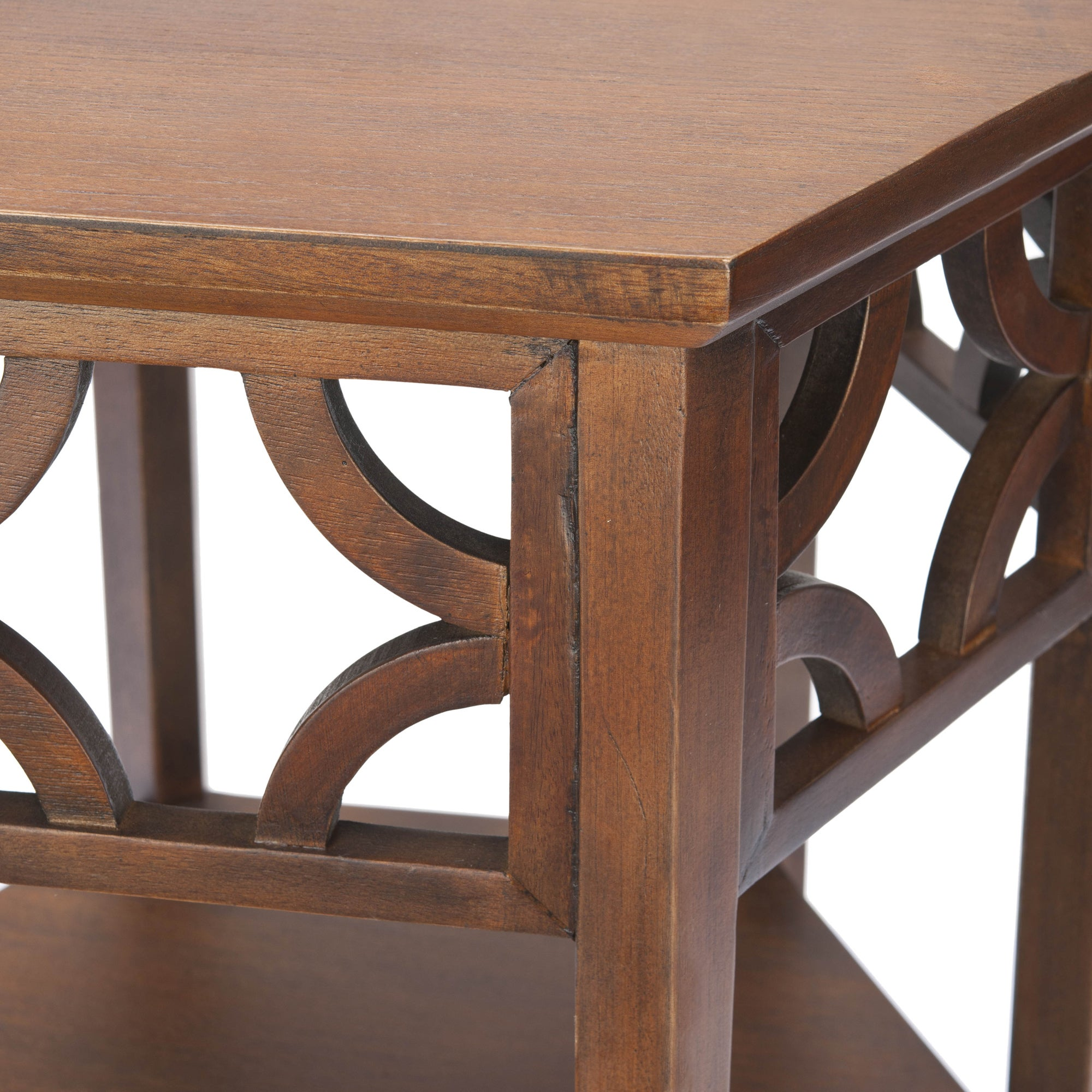 Safavieh Bali Resorts Brown Hexagon End Table   Free Shipping Today    Overstock   13988980