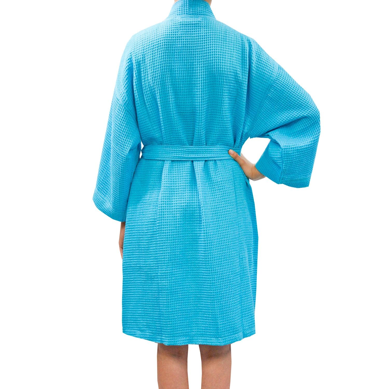 Shop Leisureland Women s Waffle Weave Spa Bathrobe - Free Shipping On  Orders Over  45 - Overstock - 6376161 cc90aa9c9