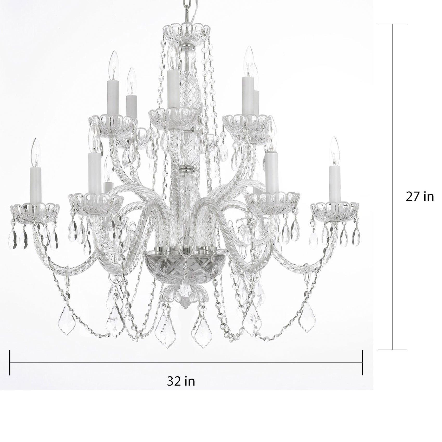 Shop gallery venetian style all crystal 12 light chandelier free shop gallery venetian style all crystal 12 light chandelier free shipping today overstock 6376439 aloadofball Image collections
