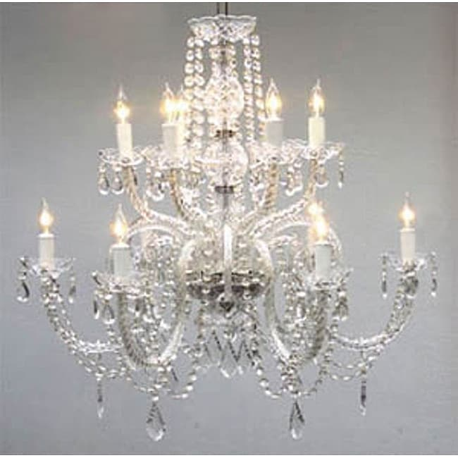 Shop gallery venetian style all crystal 12 light chandelier free shop gallery venetian style all crystal 12 light chandelier free shipping today overstock 6376439 aloadofball Choice Image