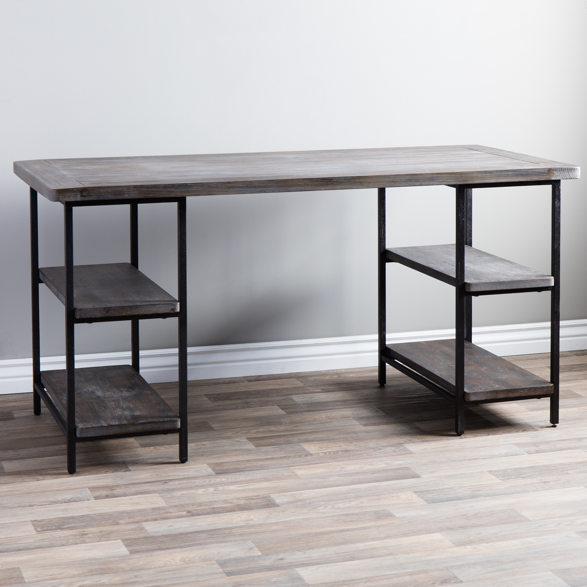 Renate Reclaimed Wood And Metal Office Desk Free Shipping Today 13996331