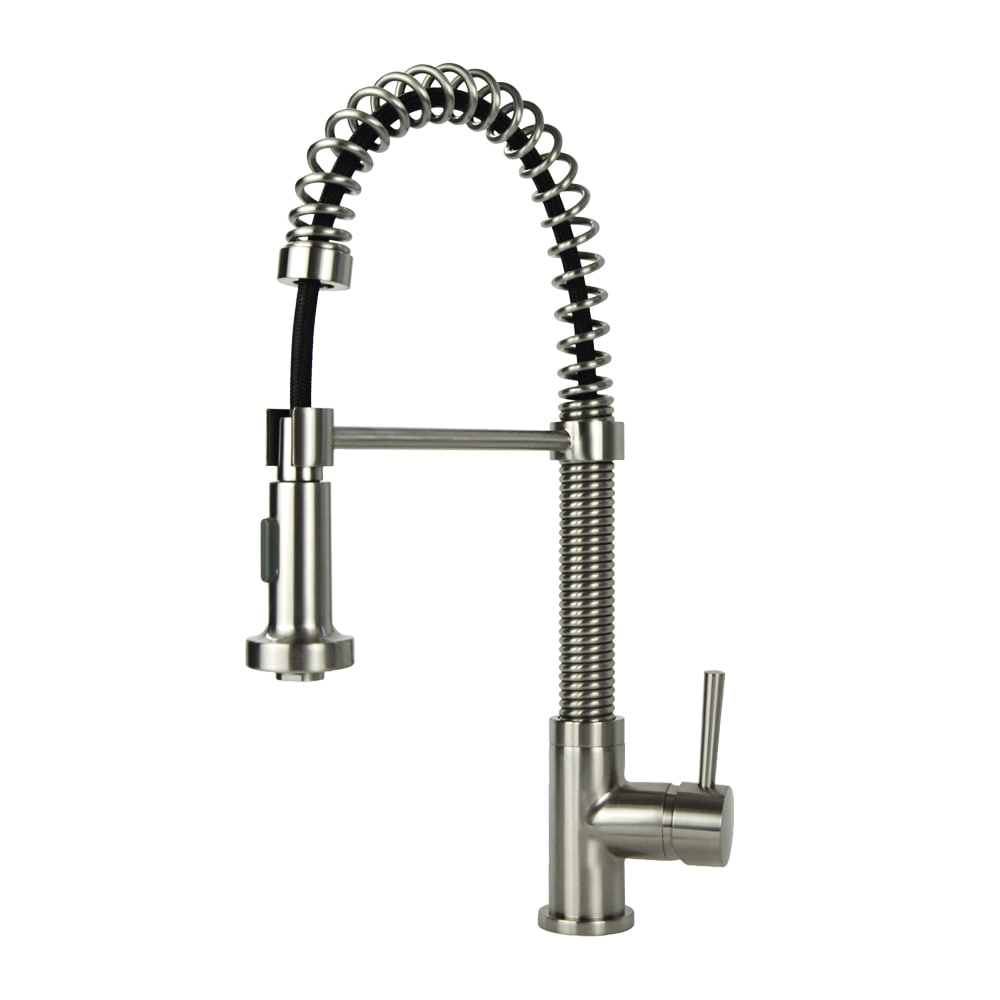 Shop Residential Brushed Nickel Finish Brass Coil Spring Faucet ...