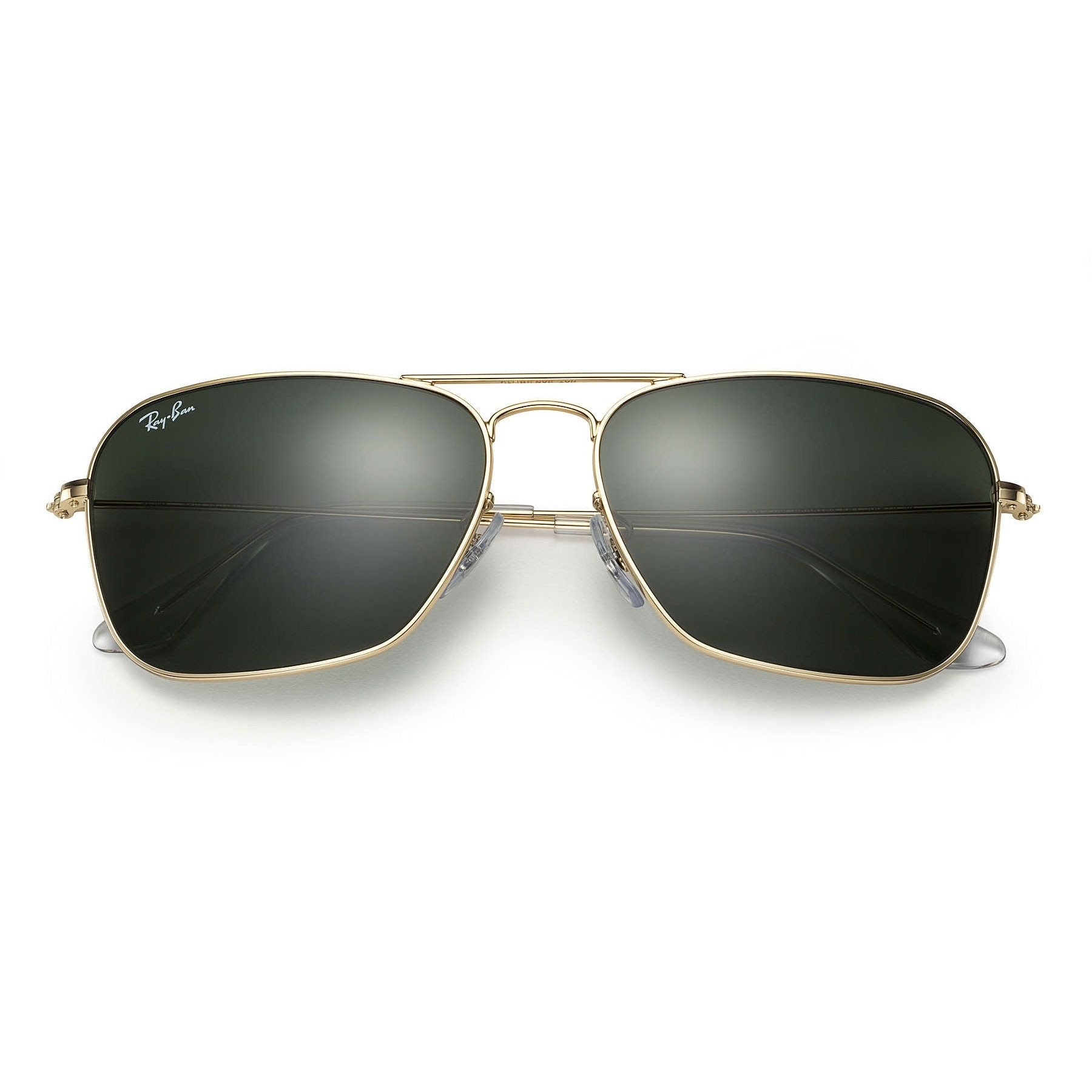 ea85d69f906 Shop Ray-Ban Caravan RB3136 Unisex Gold Frame Green Classic Lens Sunglasses  - Gold Green - Free Shipping Today - Overstock.com - 6385607