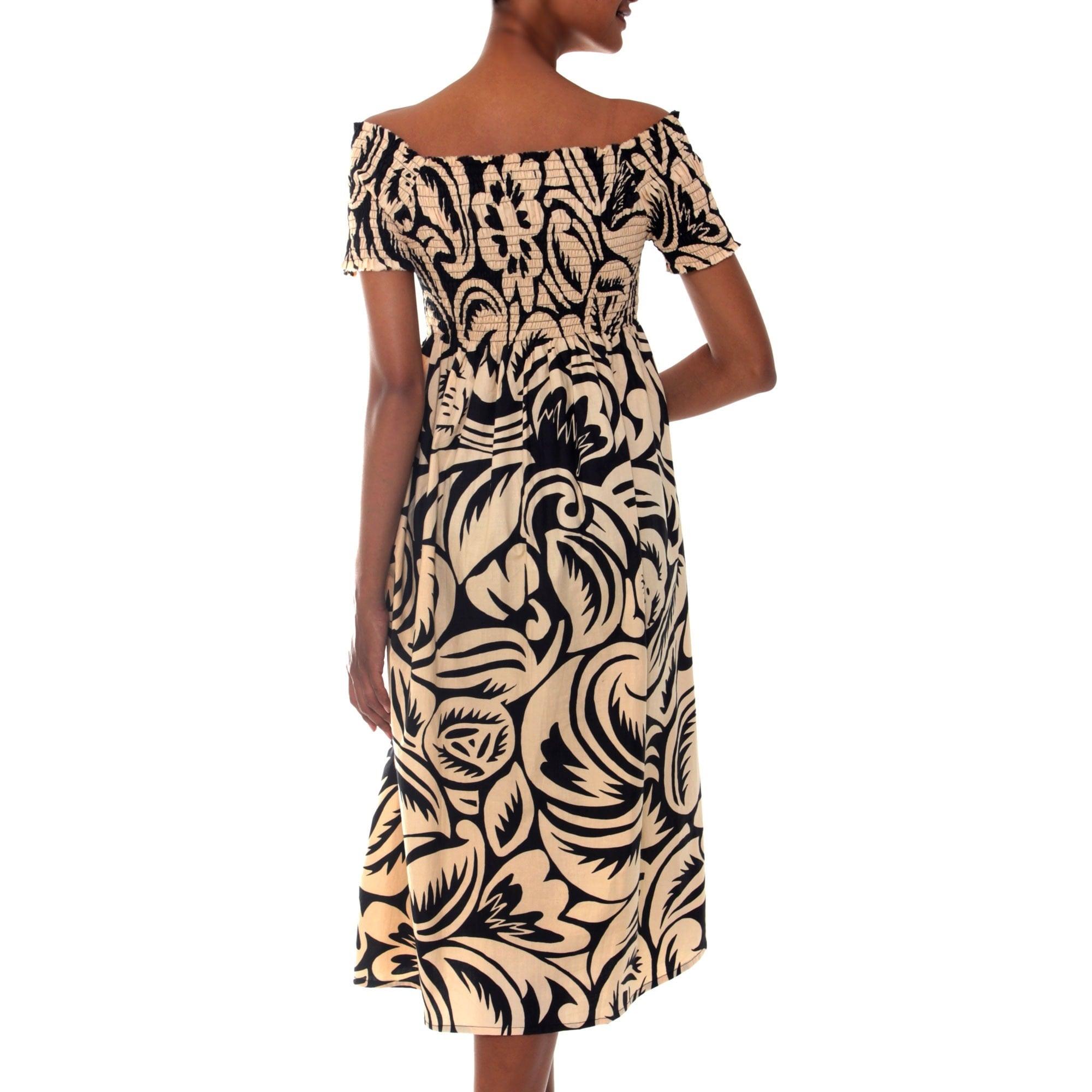 2b996a9c52dd Shop Handmade Cotton Batik  Bali Shadows  Dress (Indonesia) - Free Shipping  On Orders Over  45 - Overstock - 6387212
