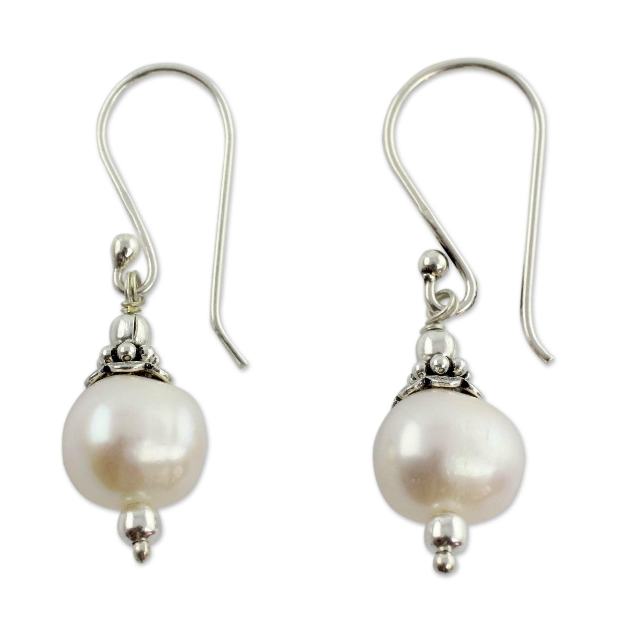 pearl round pearls cellini jewellers earrings product white stud