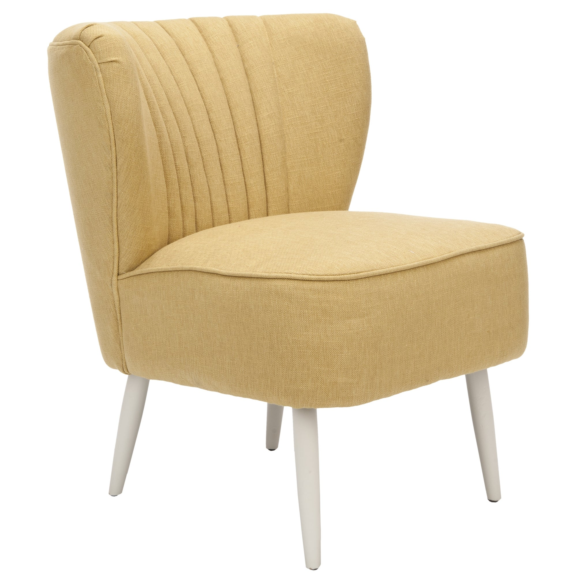 Shop safavieh mid century light gold accent chair free shipping today overstock com 6387521