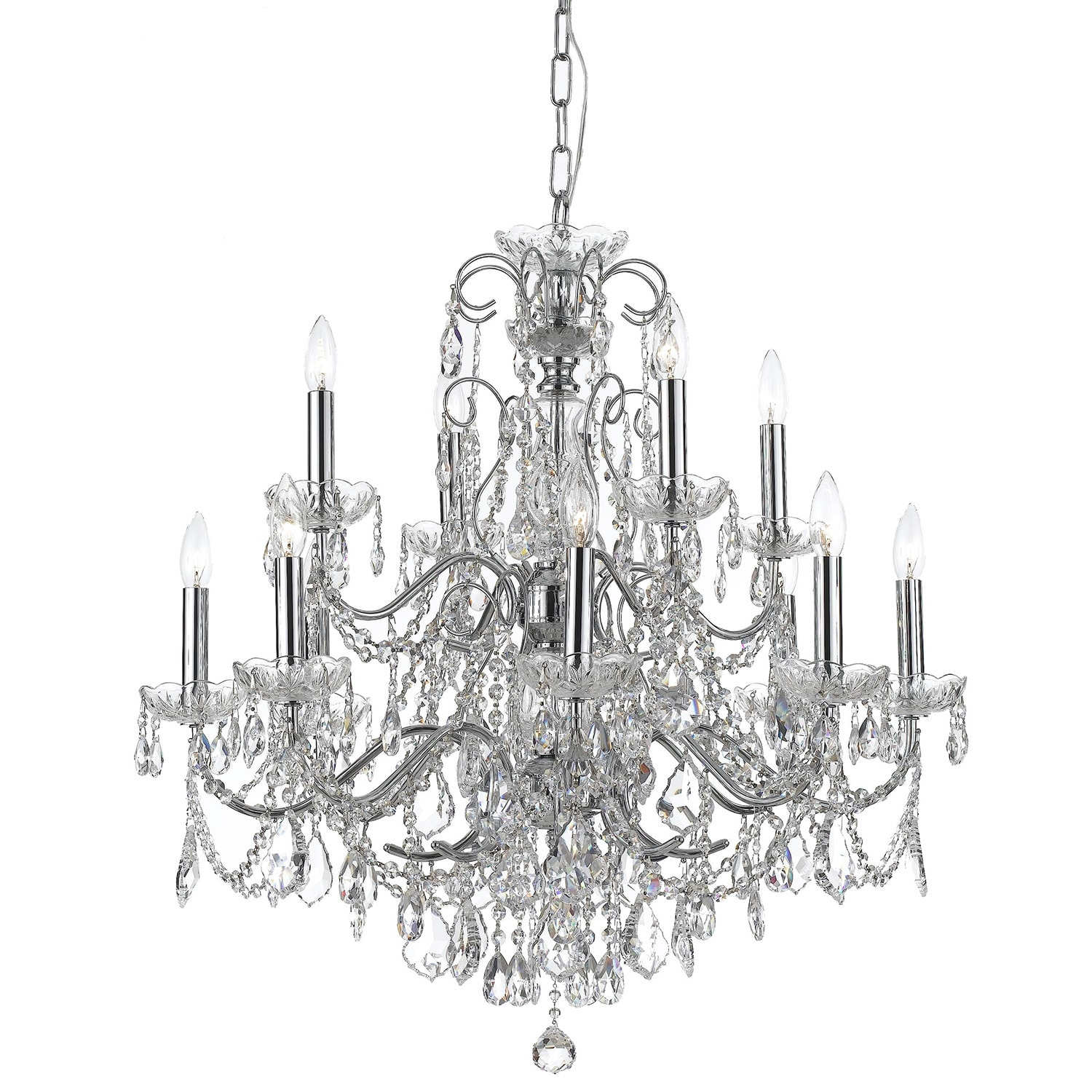 Crystorama Imperial Collection 12 light Chrome Crystal Chandelier
