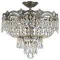 Crystorama Majestic Collection 3-light Historic Brass Semi-flush Mount
