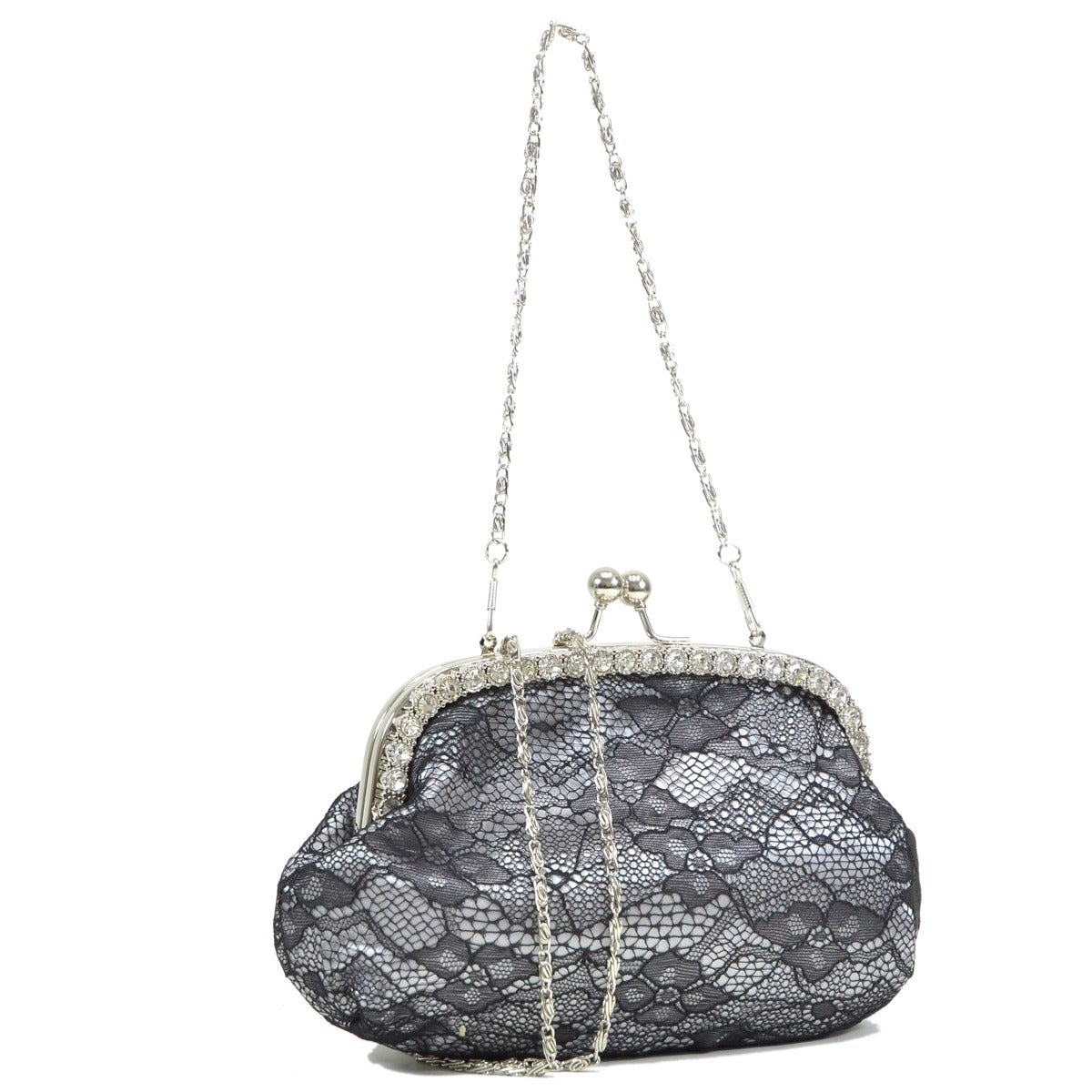 Dasein Rhinestone Accented Lace Overlay Satin Evening Bag On Free Shipping Orders Over 45 6393759