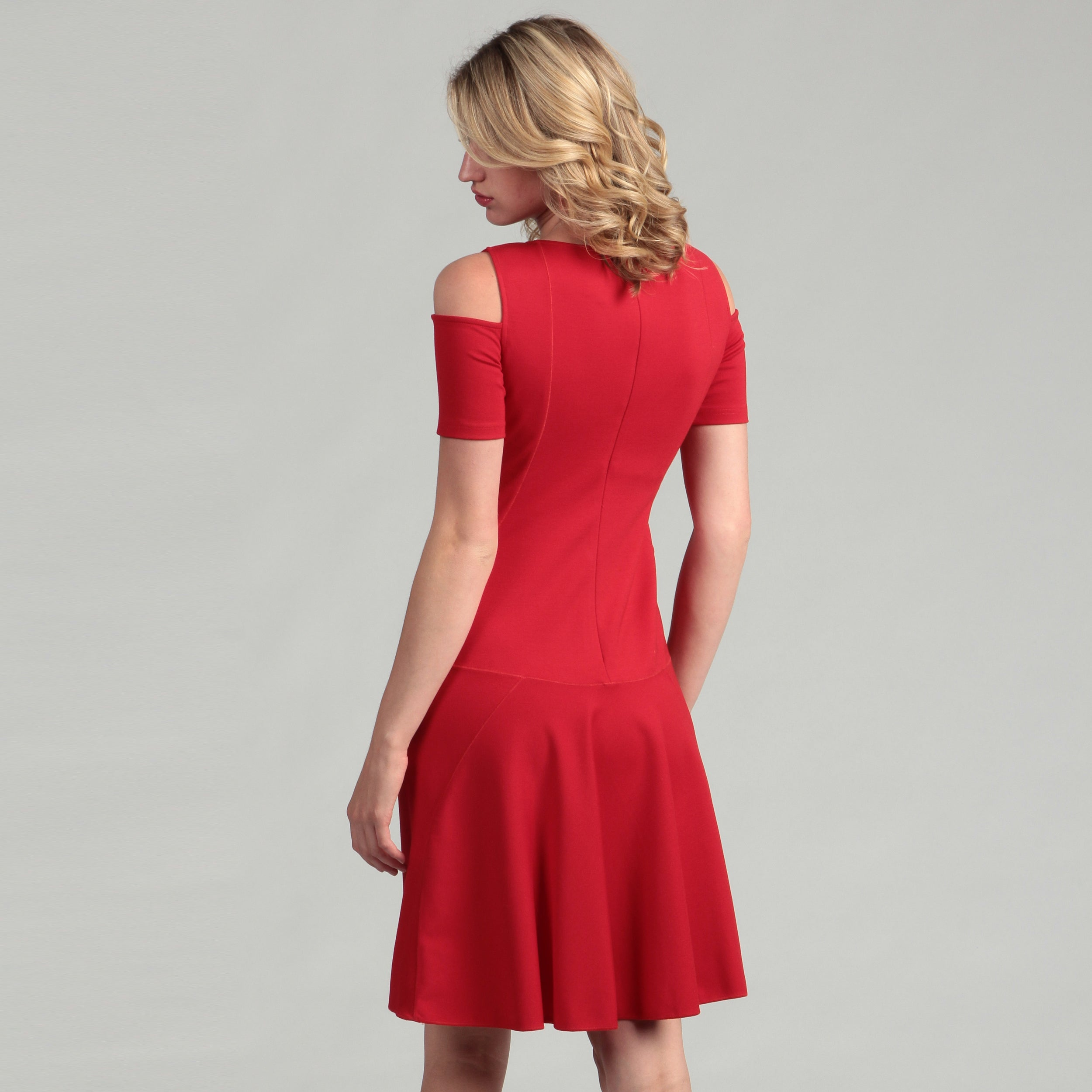 d85c8be52ce Shop Nue by Shani Women s  Built-in Body Shapers  Cold Shoulder Dress - Free  Shipping On Orders Over  45 - Overstock - 6395031