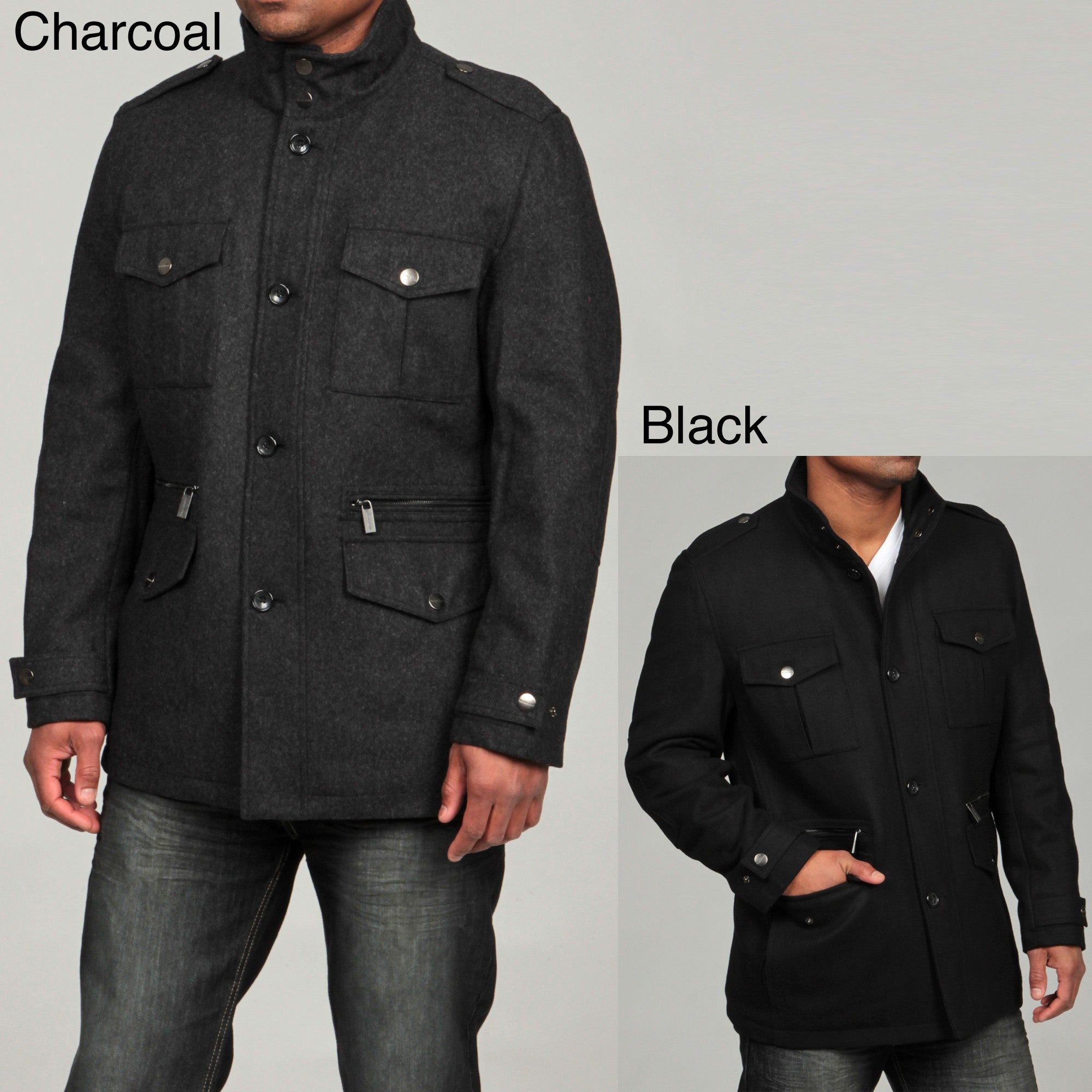 15817089023c Shop MICHAEL Michael Kors Men s Wool Blend Field Coat FINAL SALE - Free  Shipping On Orders Over  45 - Overstock - 6403100