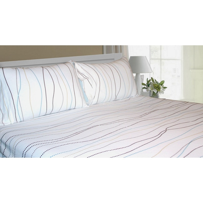 Shop Tribeca Living Dot Extra Deep Pocket Flannel Sheet Set   On Sale    Free Shipping On Orders Over $45   Overstock.com   6403631