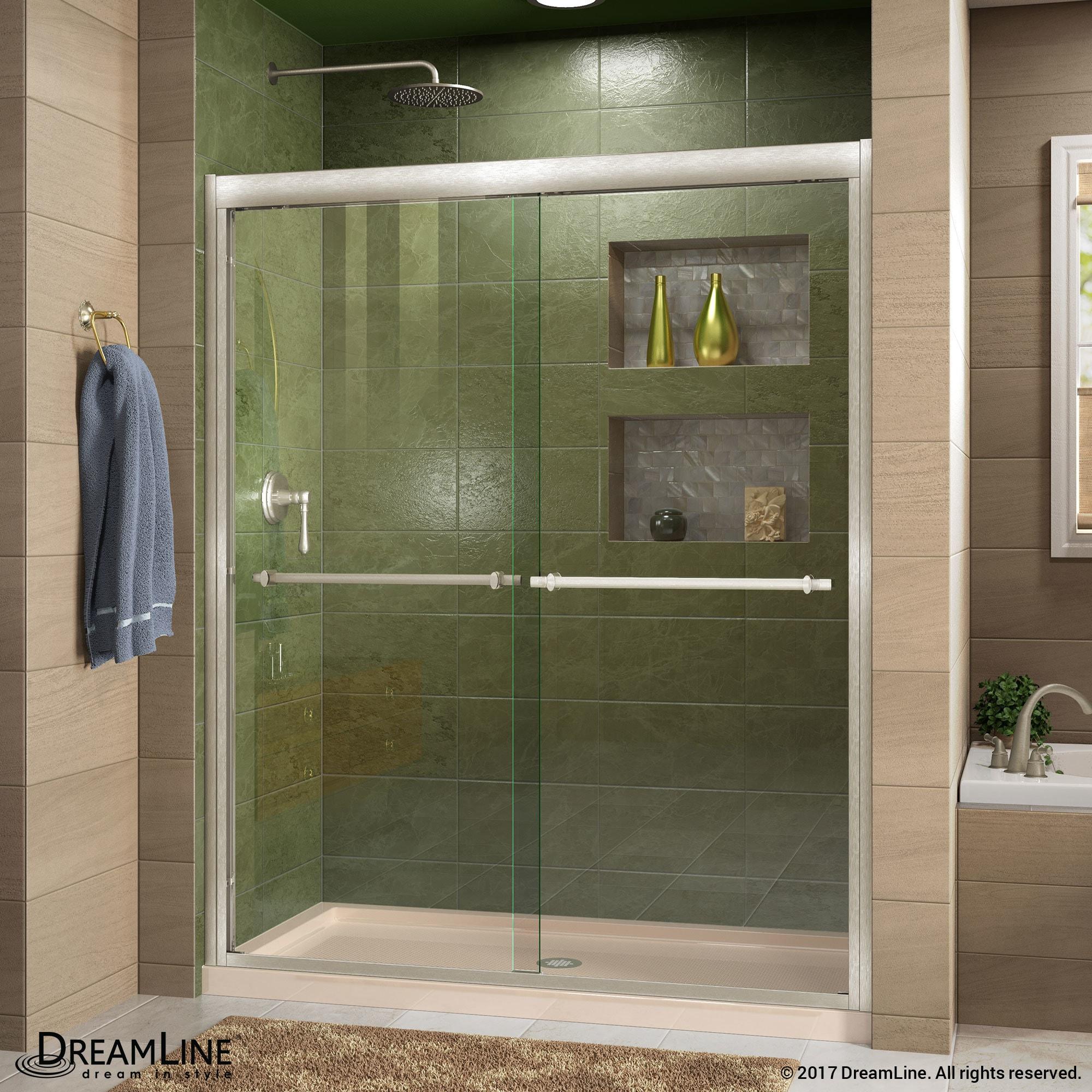 DreamLine Duet 44 to 48 in. Frameless Bypass Sliding Shower Door ...