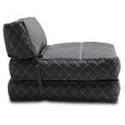 Austin Black Bean Bag Chair Bed Free Shipping Today 6405265