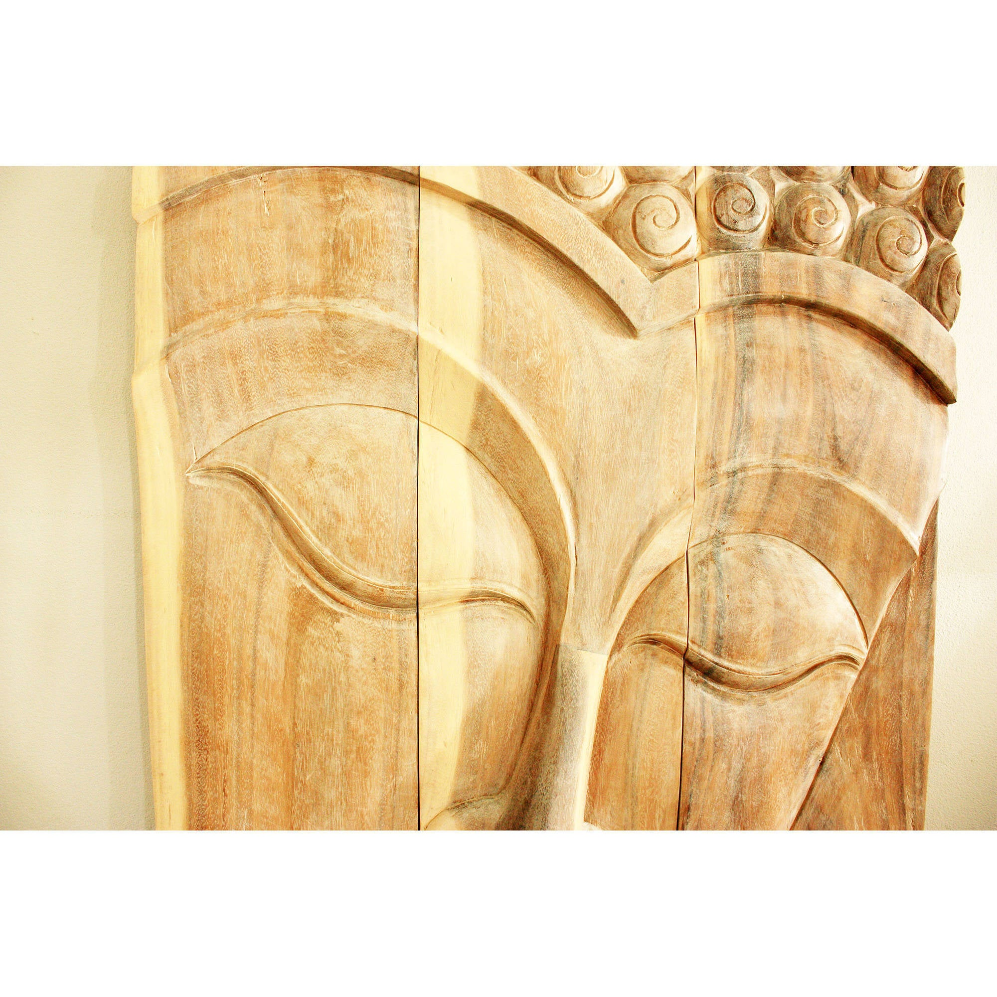 Shop Handmade 30 x 47 Walnut Oiled \'Serene Buddha\' Acacia Panel ...