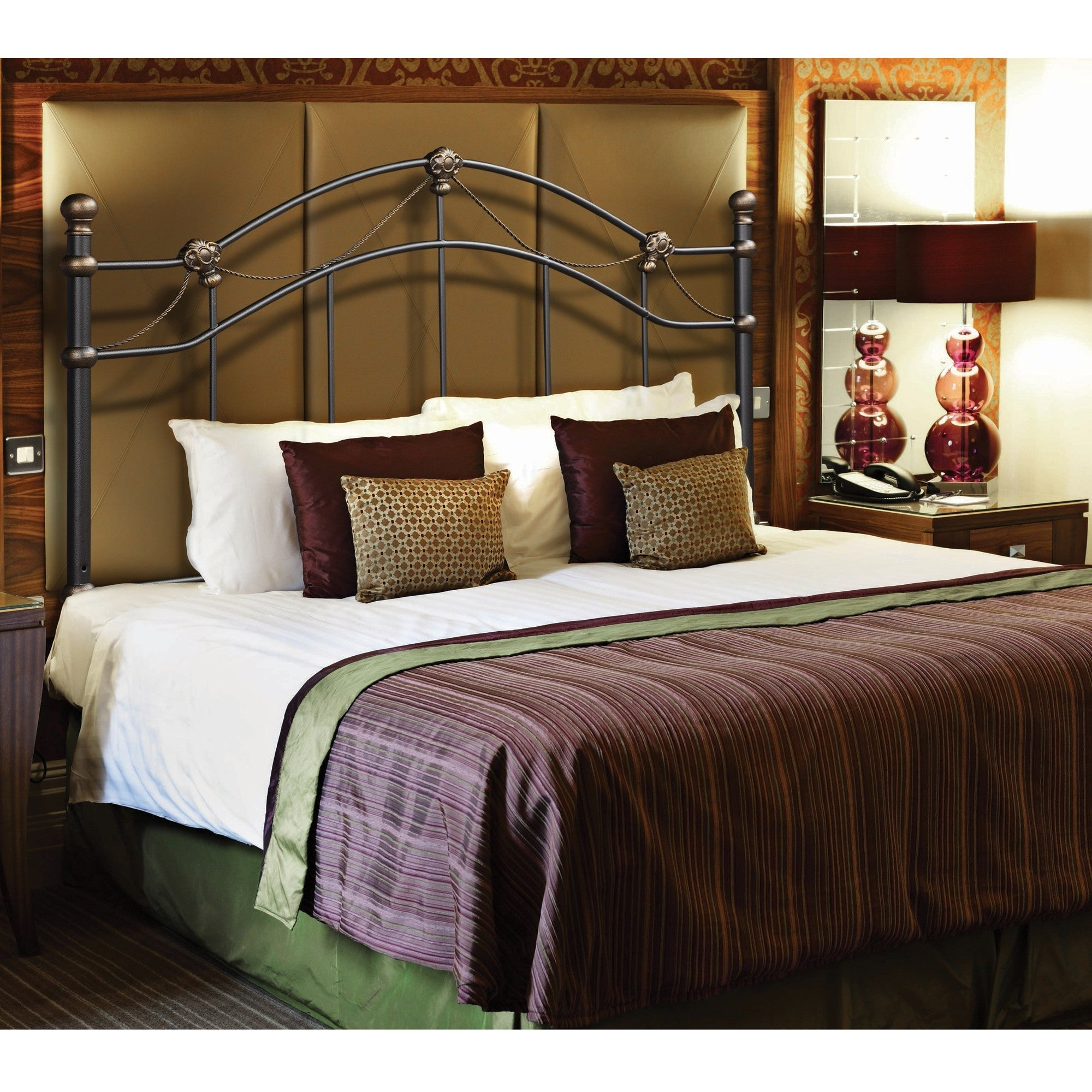 Shop hammered black full queen head or footboard free shipping today overstock com 6408106
