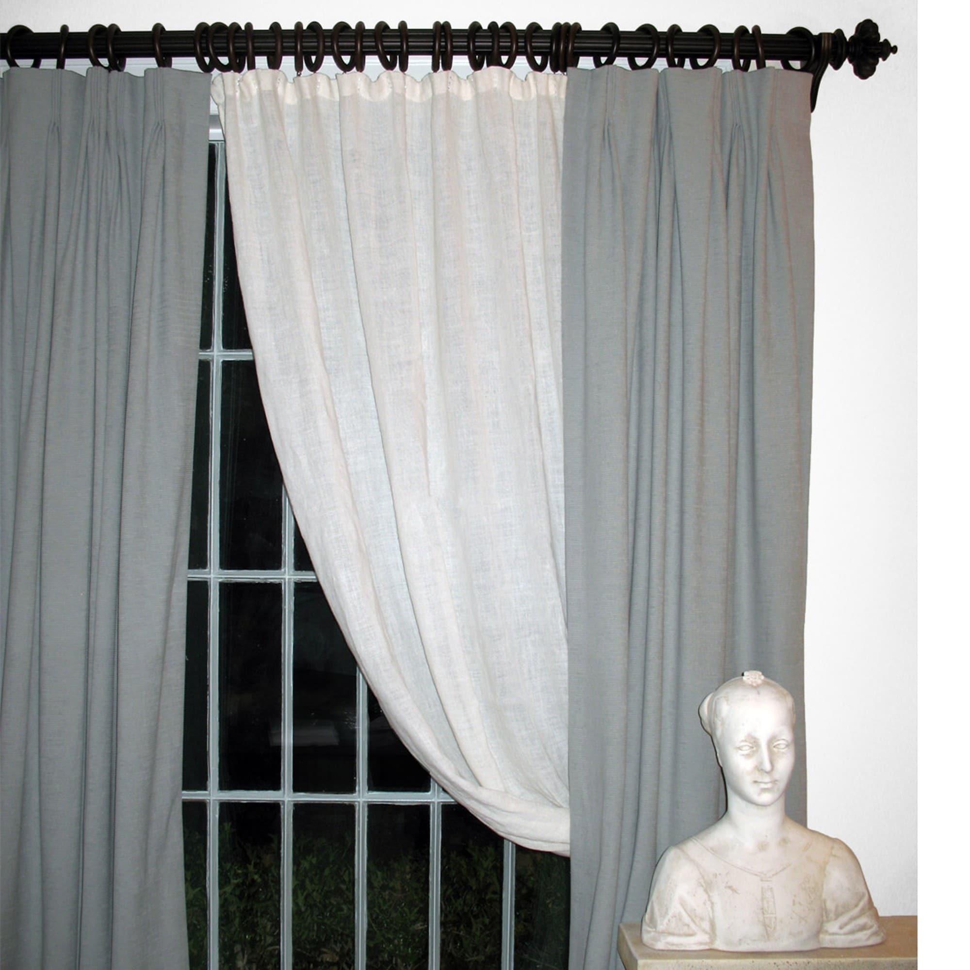 Shop Istanbul English Walnut Wood Curtain Rod Set