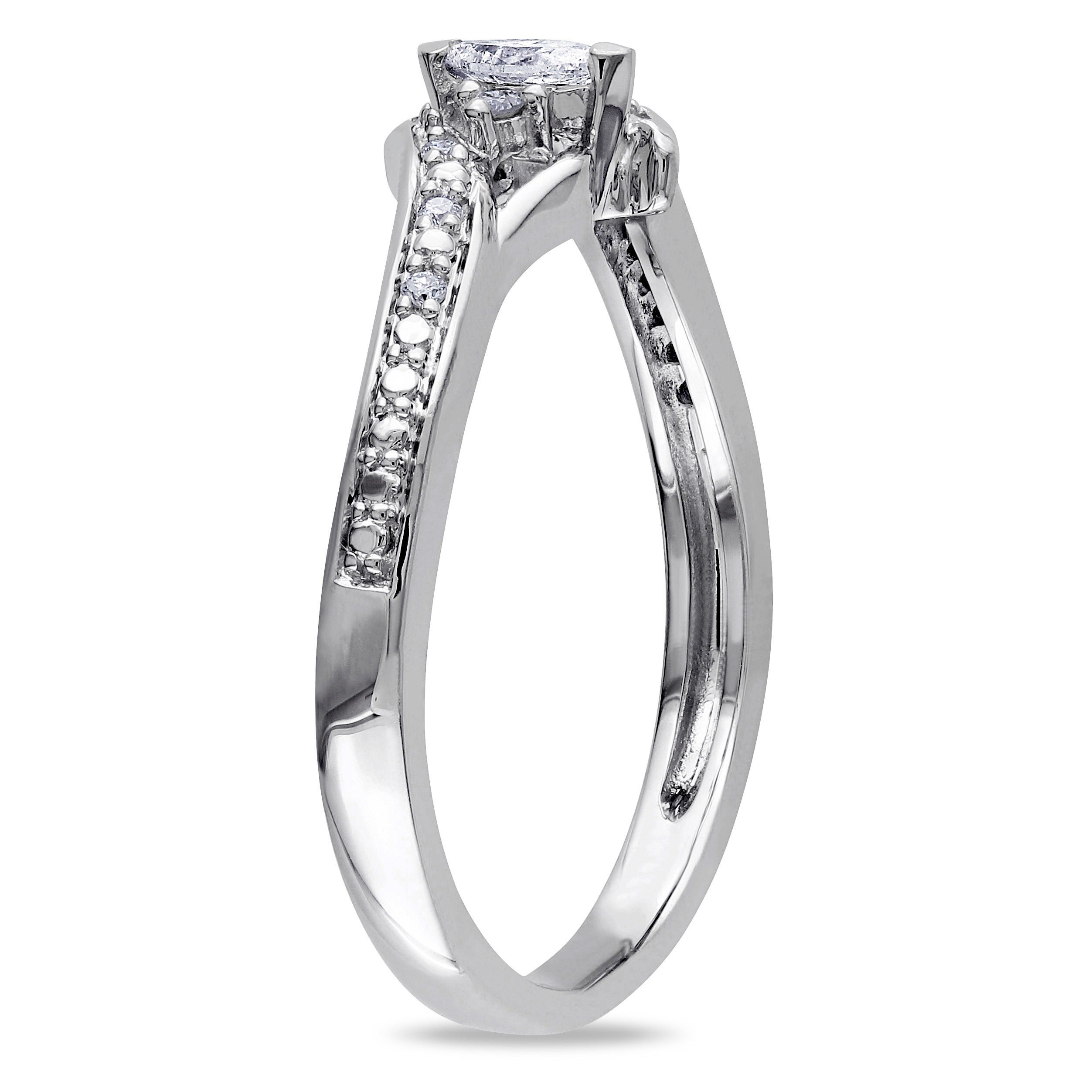 1 Carat G-h Diamond Anniversary Solitaire Bridal Ring Band Set 14k White Gold To Win Warm Praise From Customers Bridal & Wedding Party Jewelry
