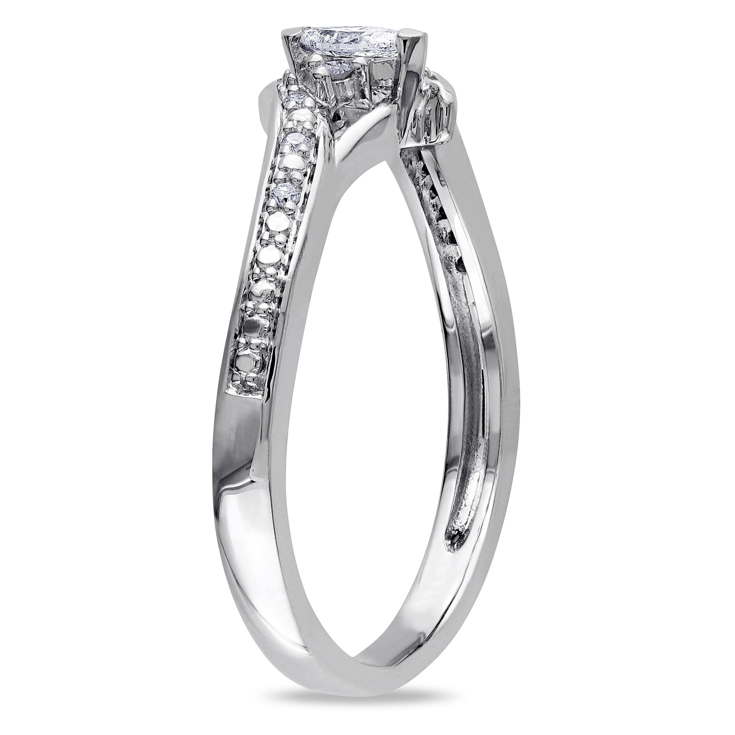 Engagement & Wedding Bridal & Wedding Party Jewelry 1 Carat G-h Diamond Anniversary Solitaire Bridal Ring Band Set 14k White Gold To Win Warm Praise From Customers
