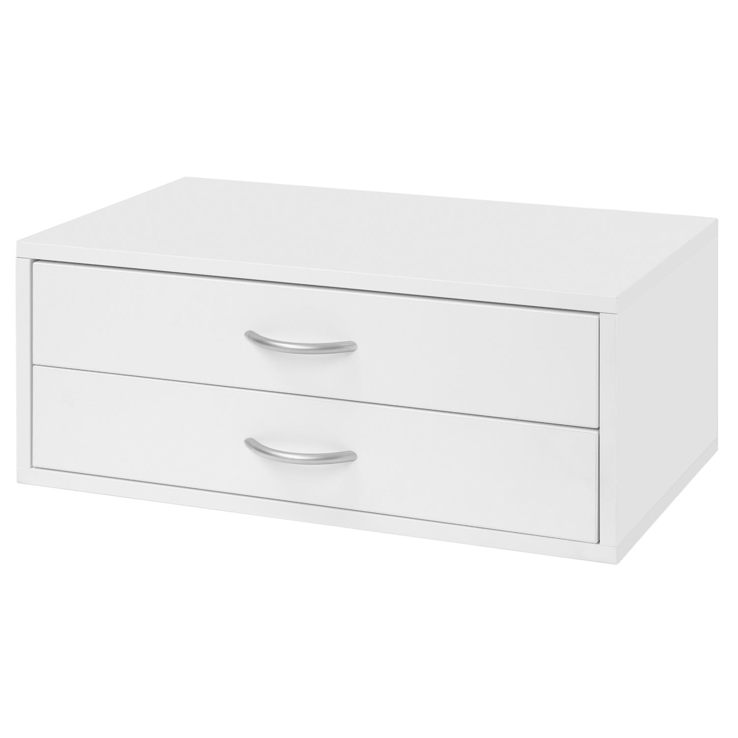 Shop Organized Living FreedomRail O Box White 2 Drawer Hanging Closet  Organizer   Free Shipping Today   Overstock.com   6415627