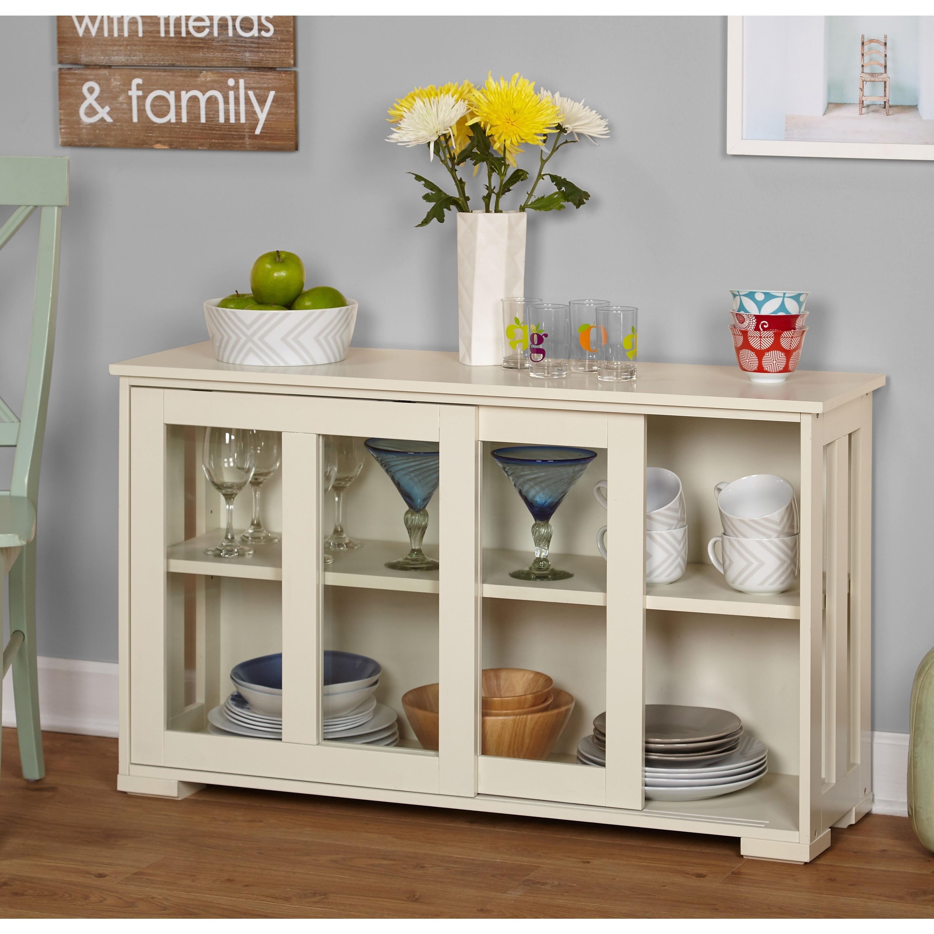 Shop simple living glass door stackable cabinet 25 x 42 x 14 free shipping today overstock com 6420584