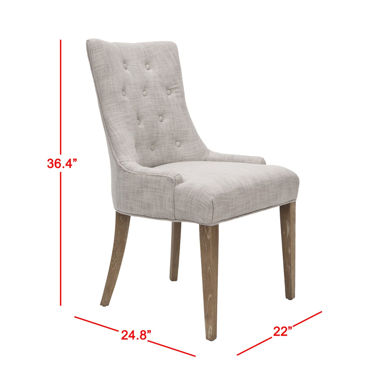 Shop safavieh en vogue dining becca grey viscose weathered oak finish dining chair free shipping today overstock com 6430750