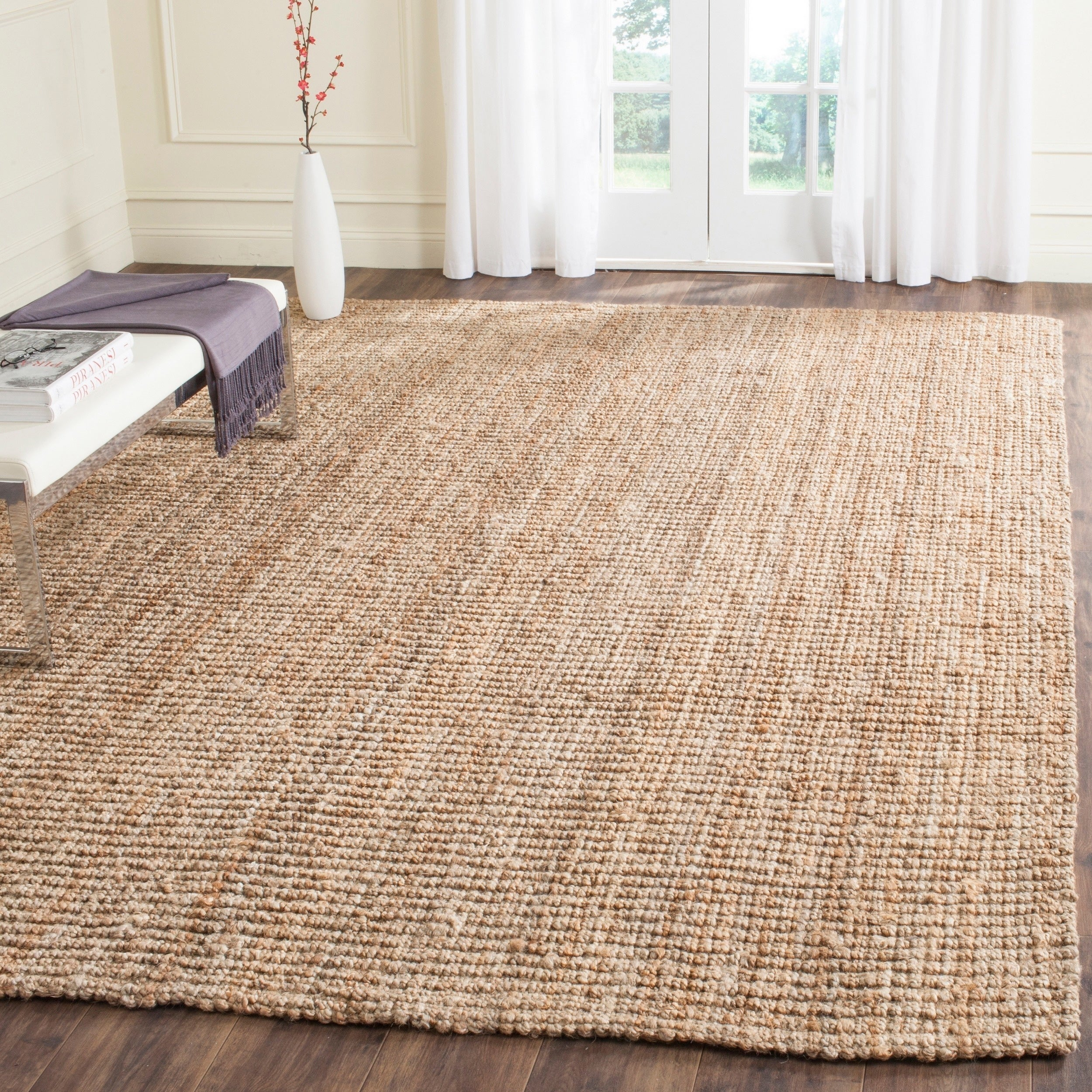 Safavieh Casual Natural Fiber Hand Woven Accents Chunky Thick Jute Rug 7 6 X 9 Free Shipping Today 14034882