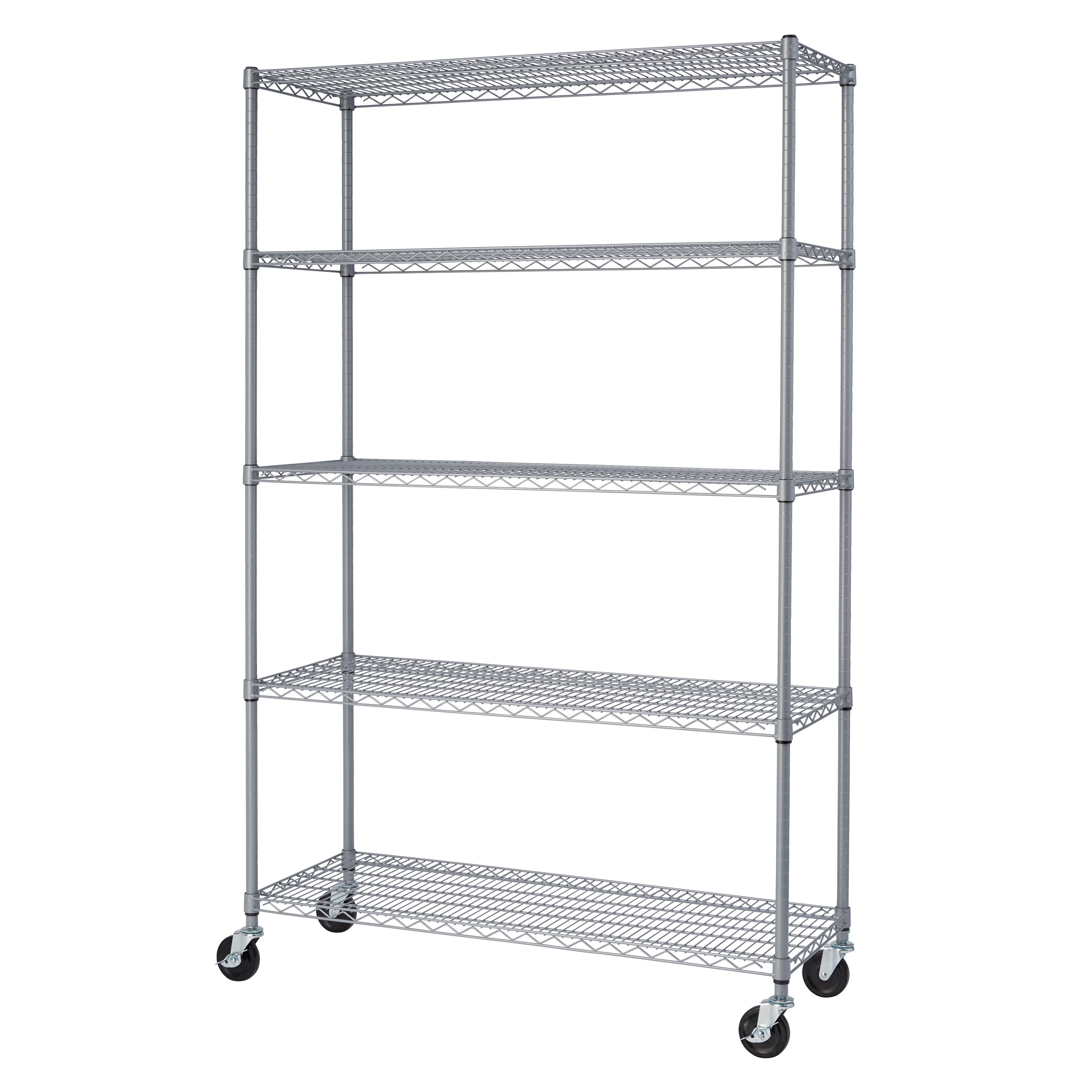 Shop Trinity NSF Adjustable 5-Tier Outdoor Wire Shelving Rack - Free ...