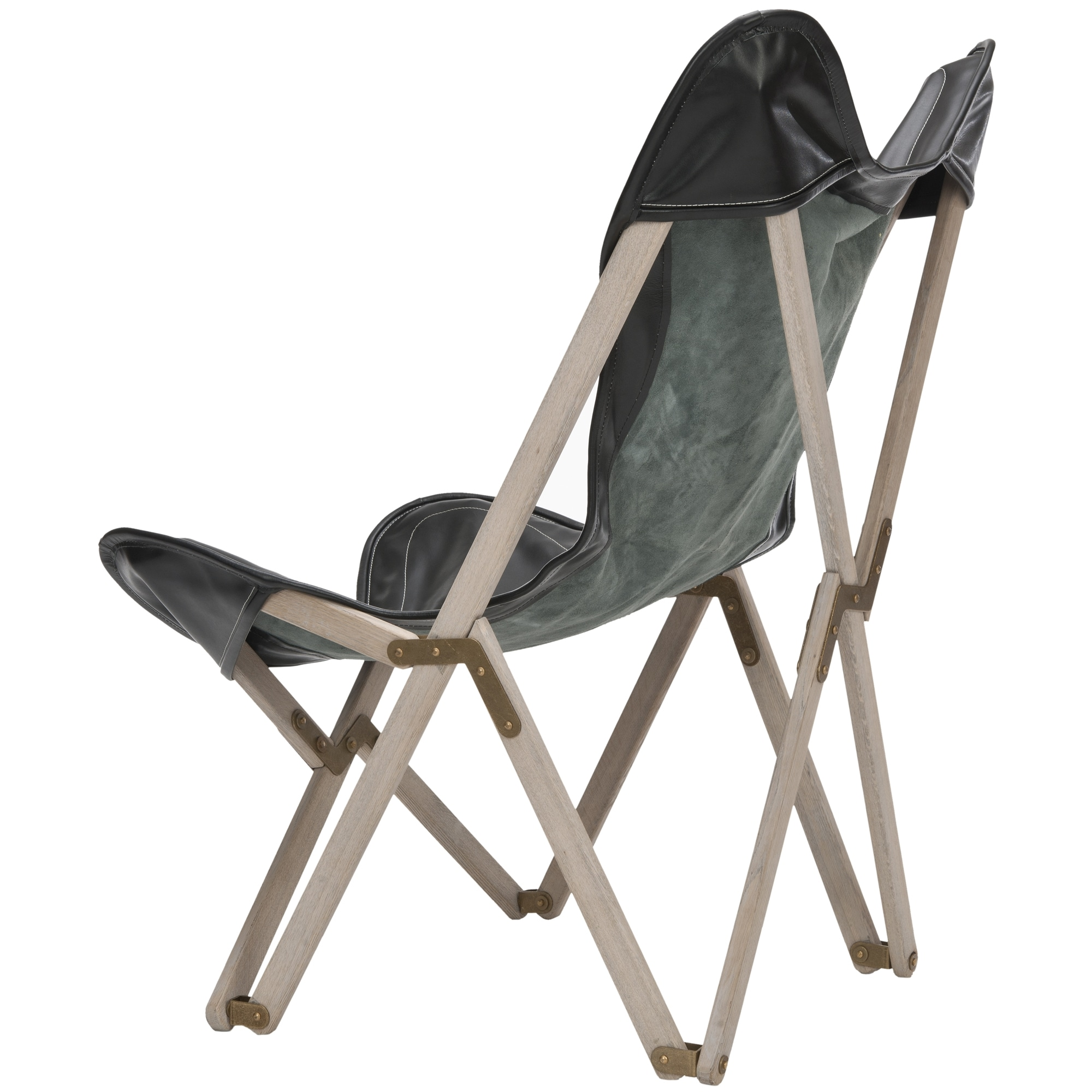 Safavieh Butterfly Black Bi Cast Leather Folding Chair Free