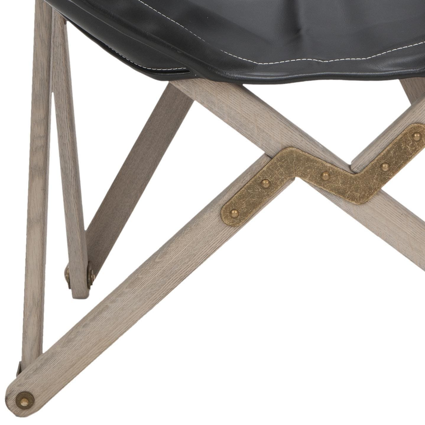 Shop Safavieh Butterfly Black Bi Cast Leather Folding Chair   Free Shipping  Today   Overstock.com   6432789
