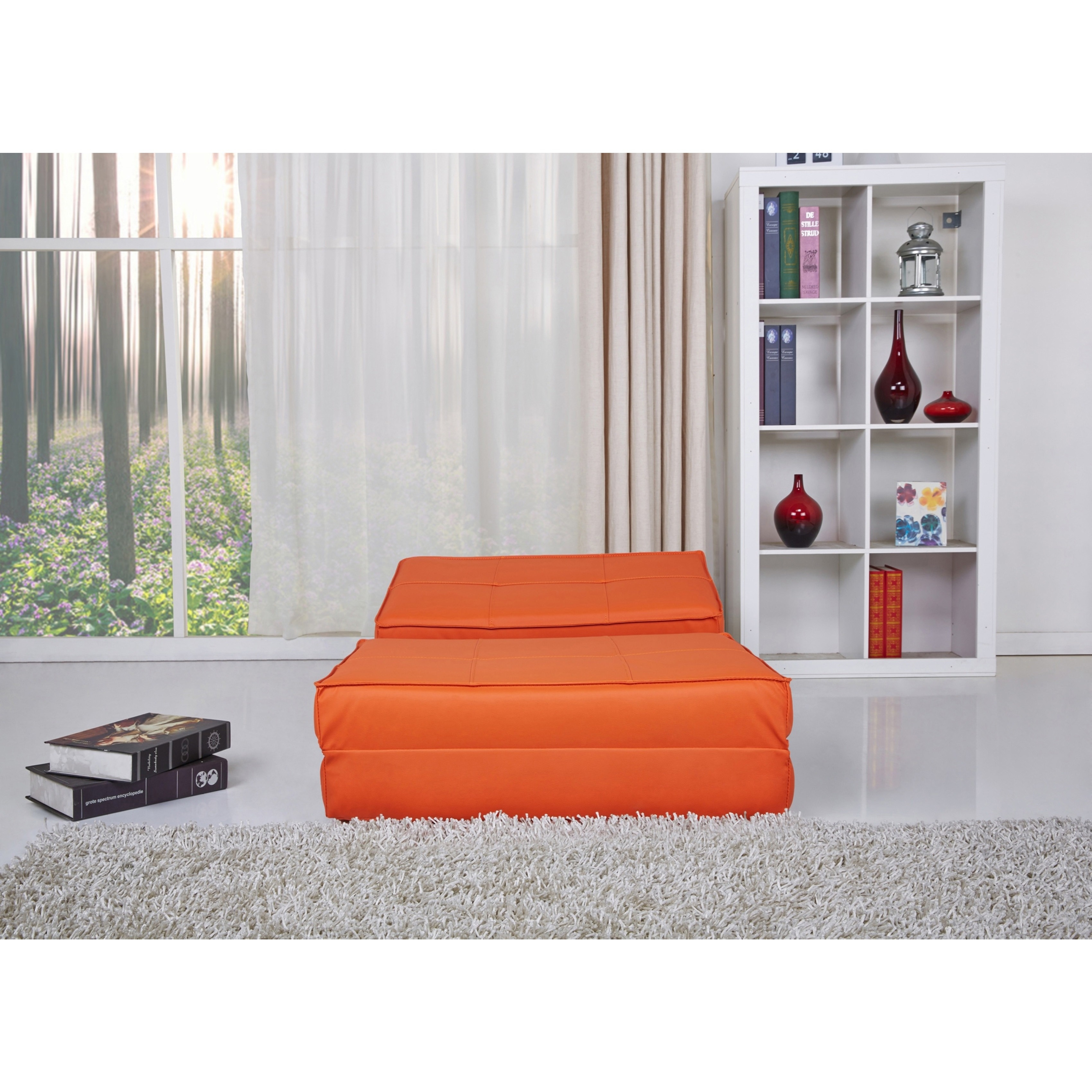 baltimore orange convertible chair bed   free shipping today   overstock     14037431 baltimore orange convertible chair bed   free shipping today      rh   overstock