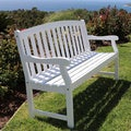 Havenside Home Surfside Outdoor White Weather Resistant Wood Bench