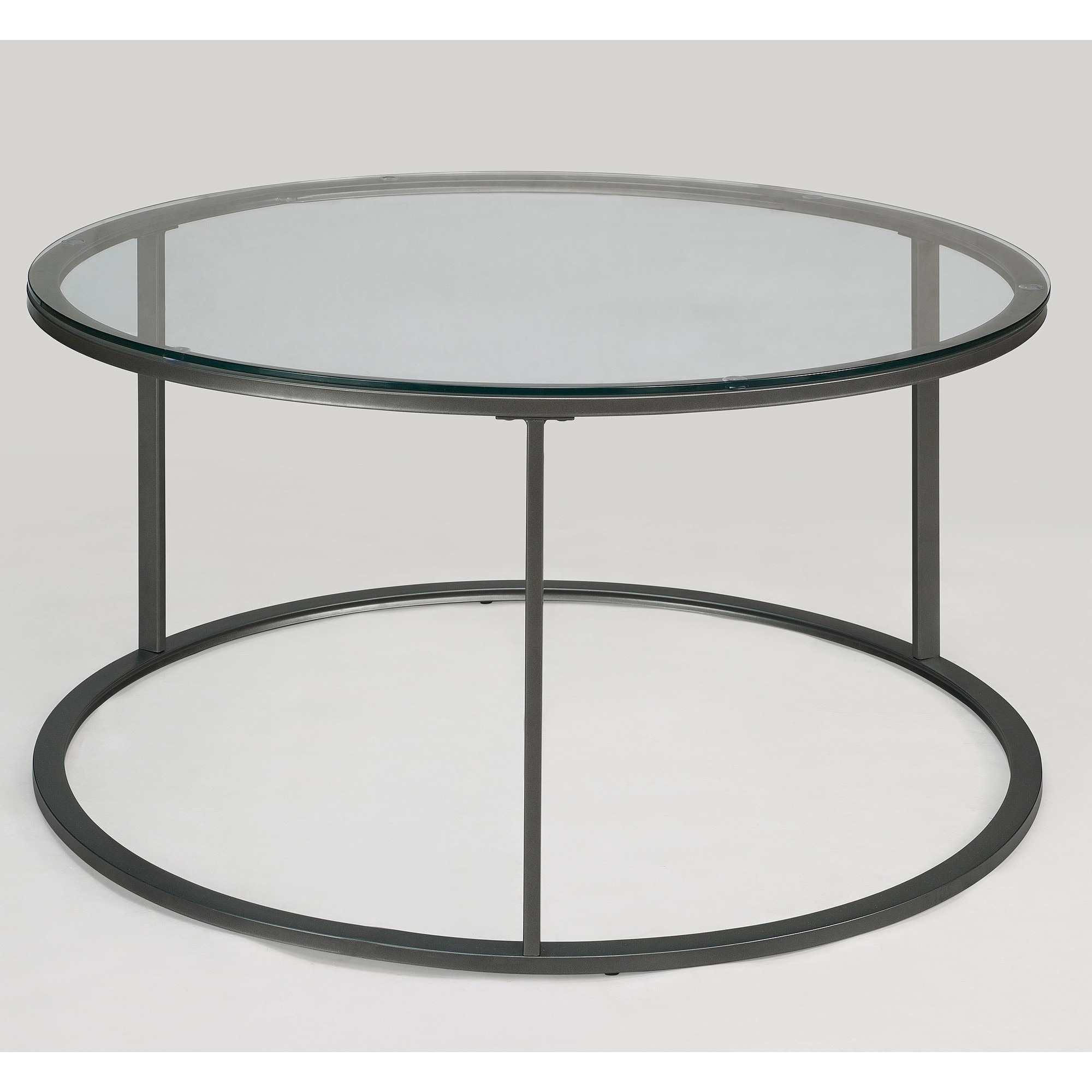 Amazing Clay Alder Home Round Glass Top Metal Coffee Table   Free Shipping Today    Overstock.com   14037744