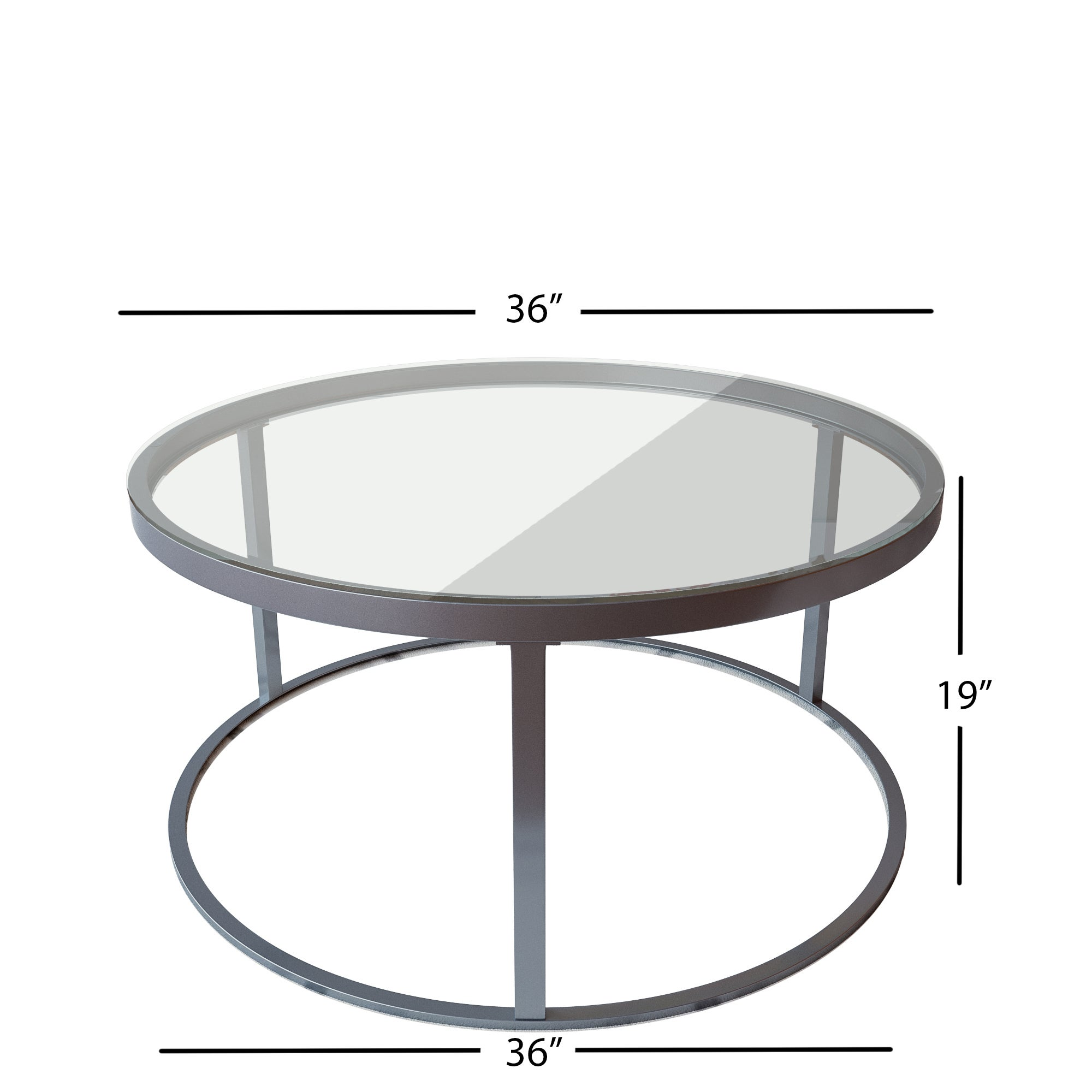 Clay Alder Home Round Glass Top Metal Coffee Table   Free Shipping Today    Overstock.com   14037744