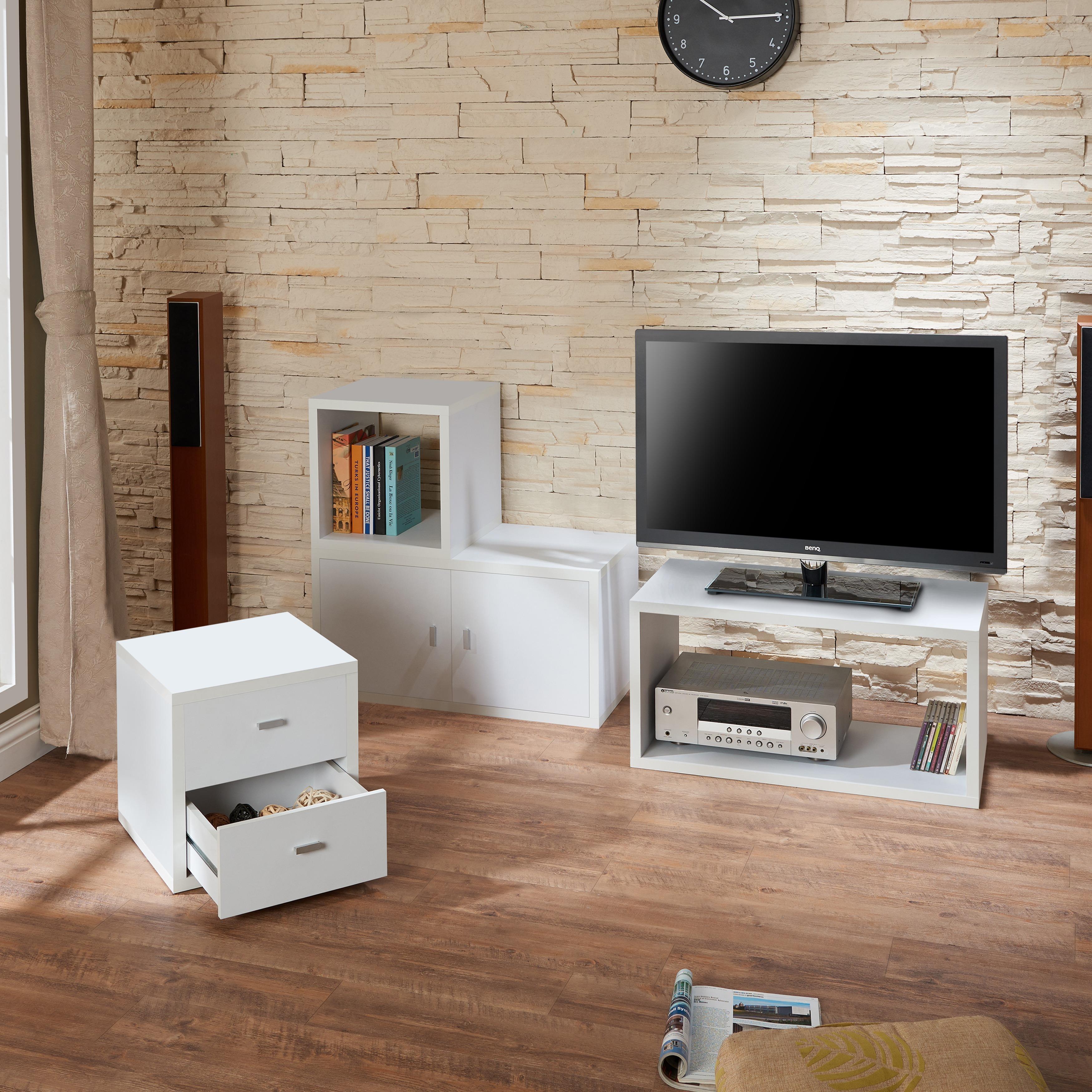 Furniture of America Allure Modular Storage Cabinet in White (Set ...