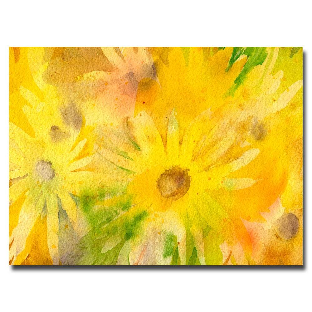 Sheila Golden \'Yellow Wildflowers\' Canvas Wall Art - Yellow - Free ...