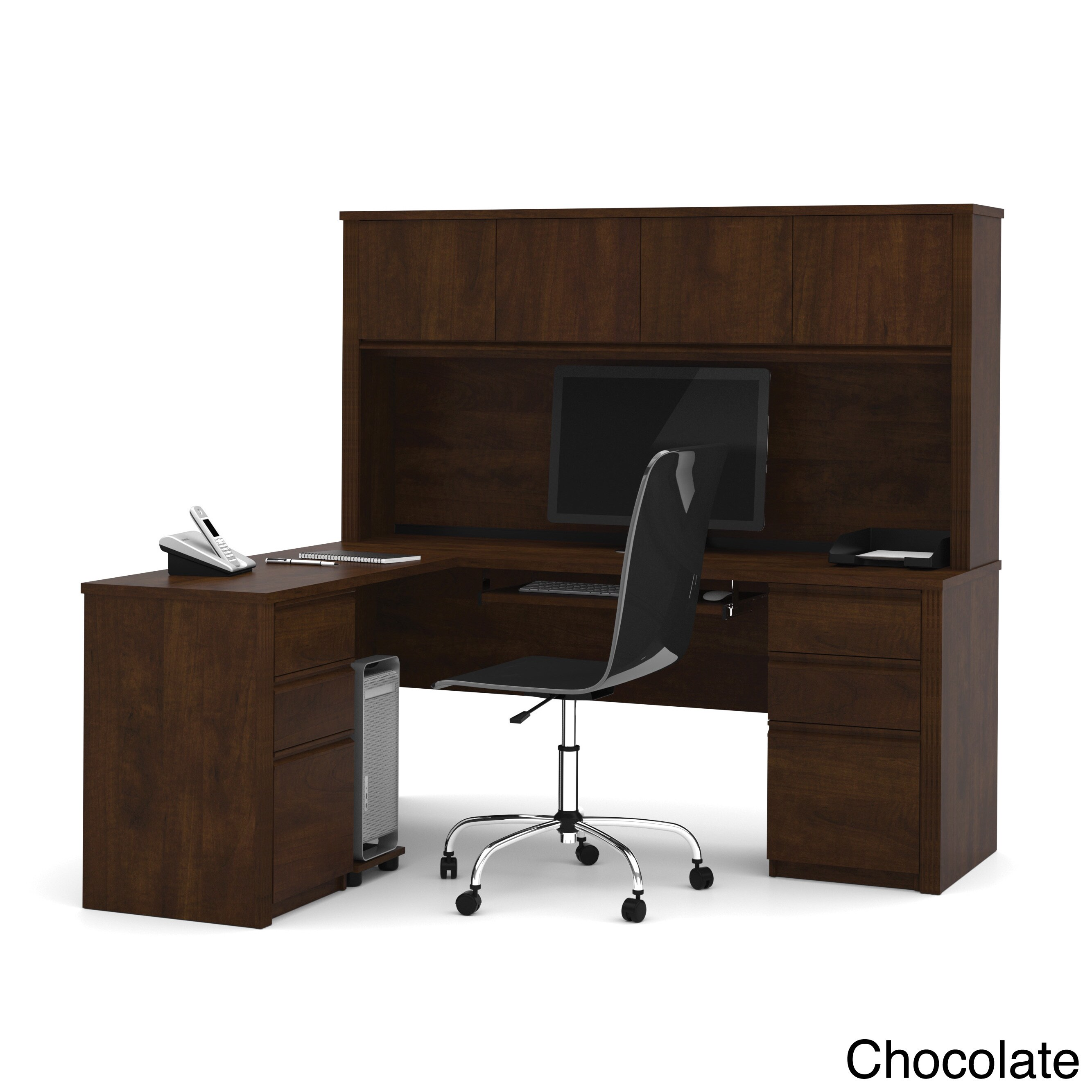 Strange Bestar Prestige Plus L Shaped Desk With Hutch Download Free Architecture Designs Scobabritishbridgeorg