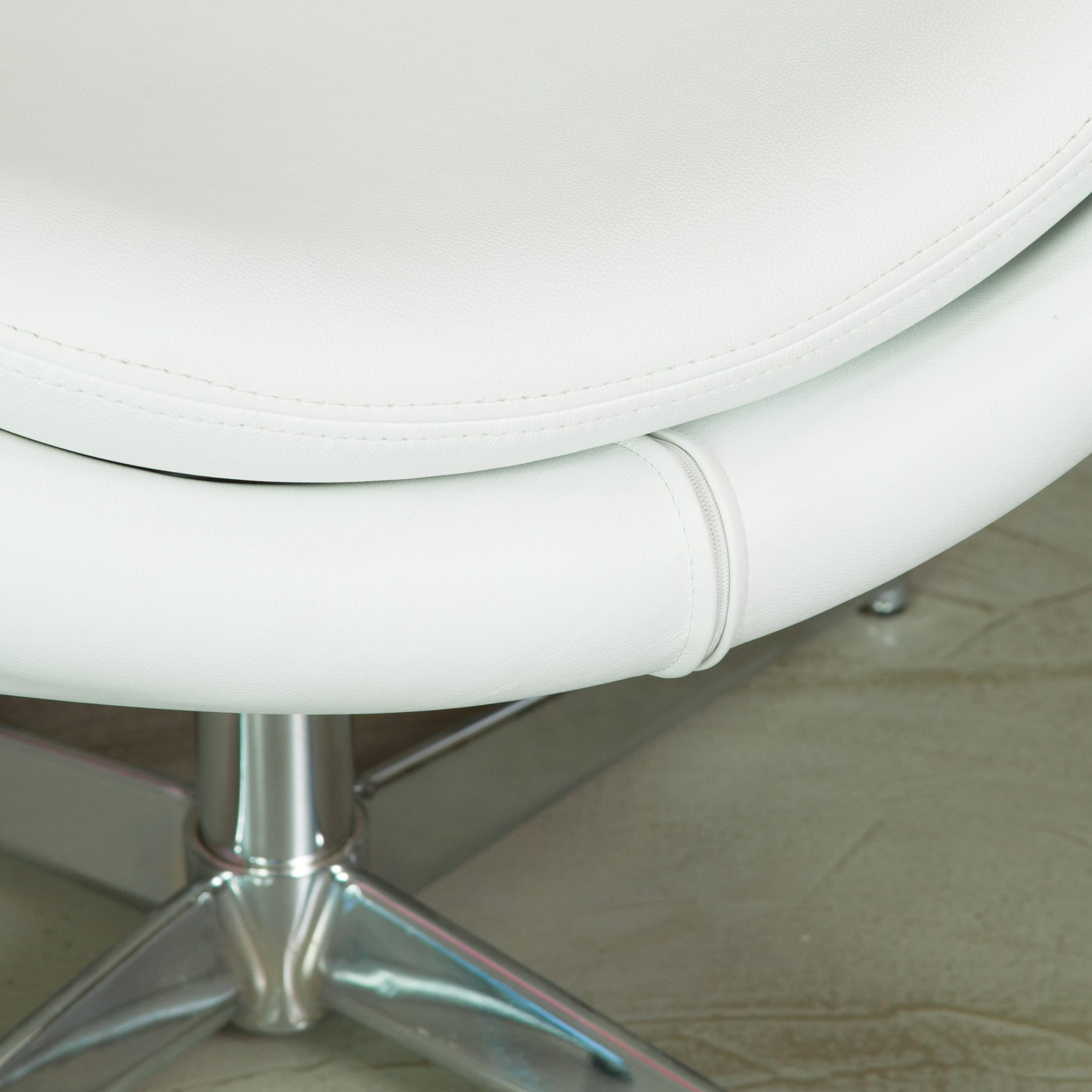 Shop Christopher Knight Home Modern White Bonded Leather Roundback Chair    Free Shipping Today   Overstock.com   6444094