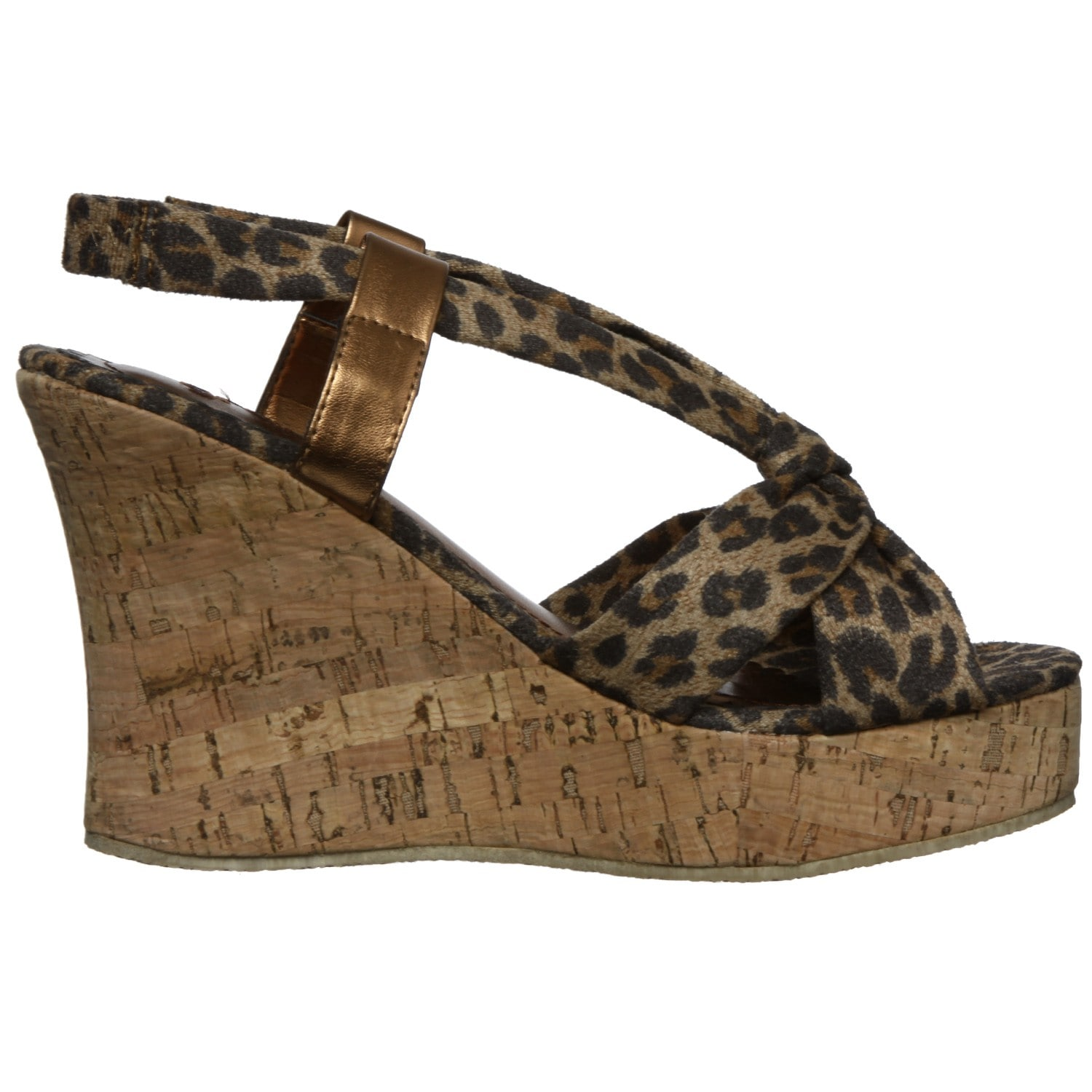 0bfc75ed9db4a Shop Groove Women s  Tatiana  Leopard Wedge Sandals - Free Shipping On  Orders Over  45 - Overstock - 6453598