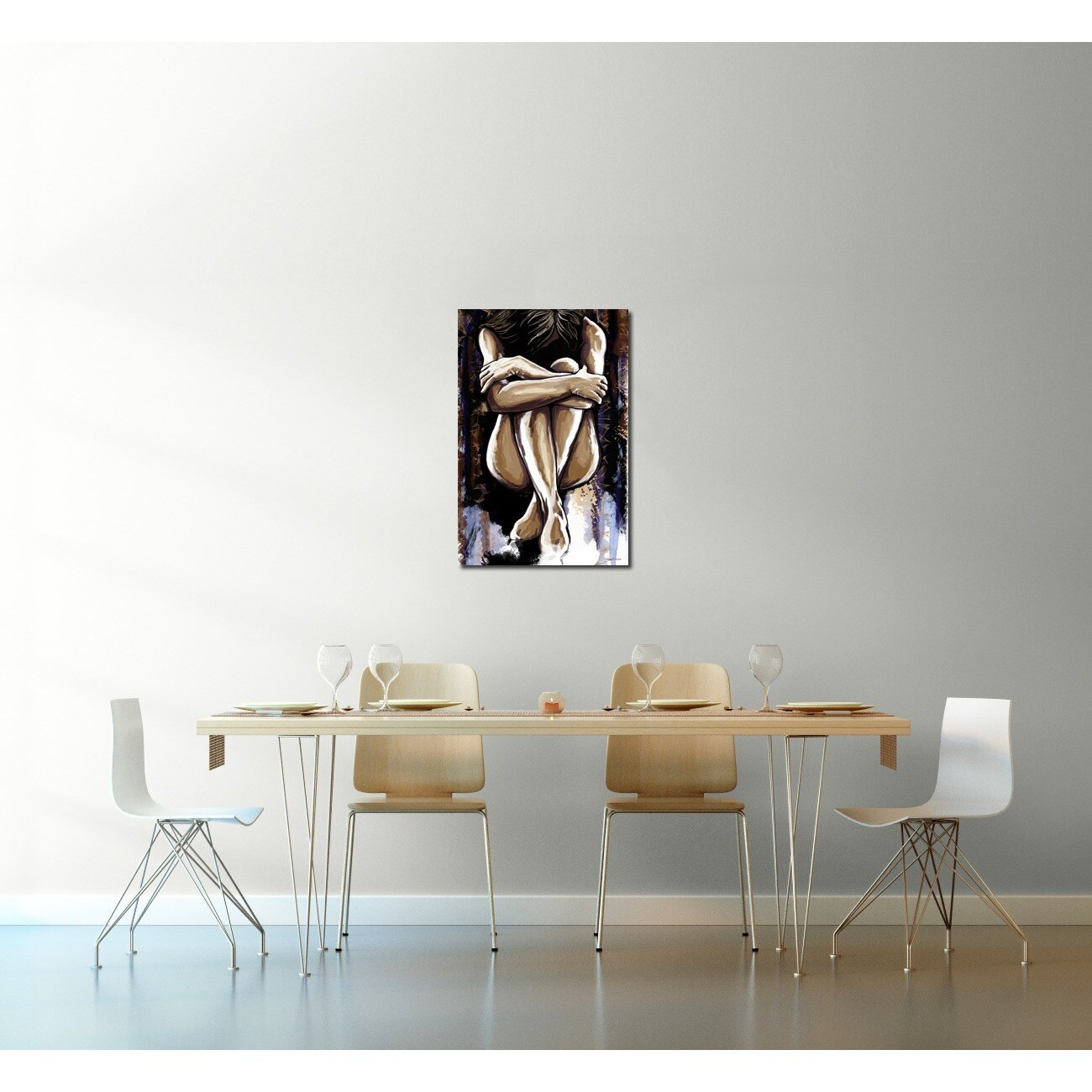 Shop Maxwell Dickson U0027Ashleyu0027 Wall Decor Canvas Artwork   Free Shipping  Today   Overstock.com   6460983
