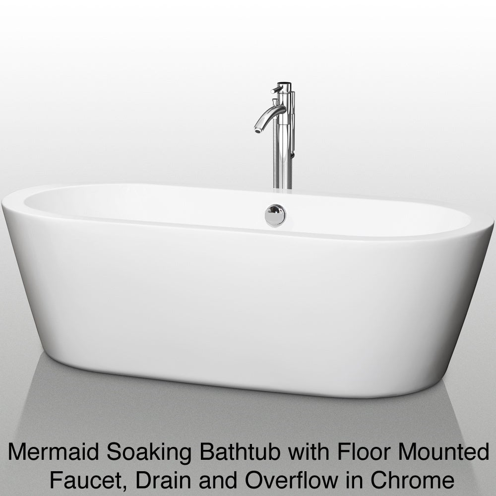Etonnant Shop Wyndham Collection Mermaid Freestanding 71 Inch Soaking Bathtub   Free  Shipping Today   Overstock.com   6462677