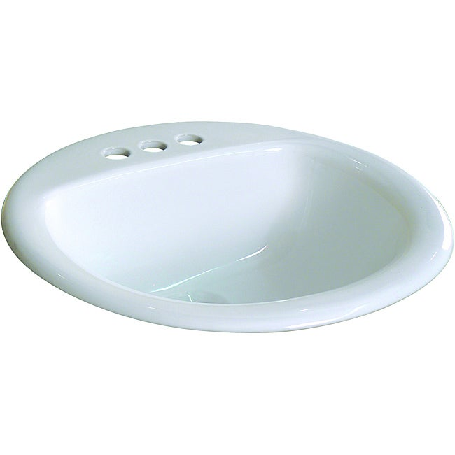 Fine Fixtures Ceramic 19 Inch Drop In Self White Bathroom Sink Free Shipping Today 6466824