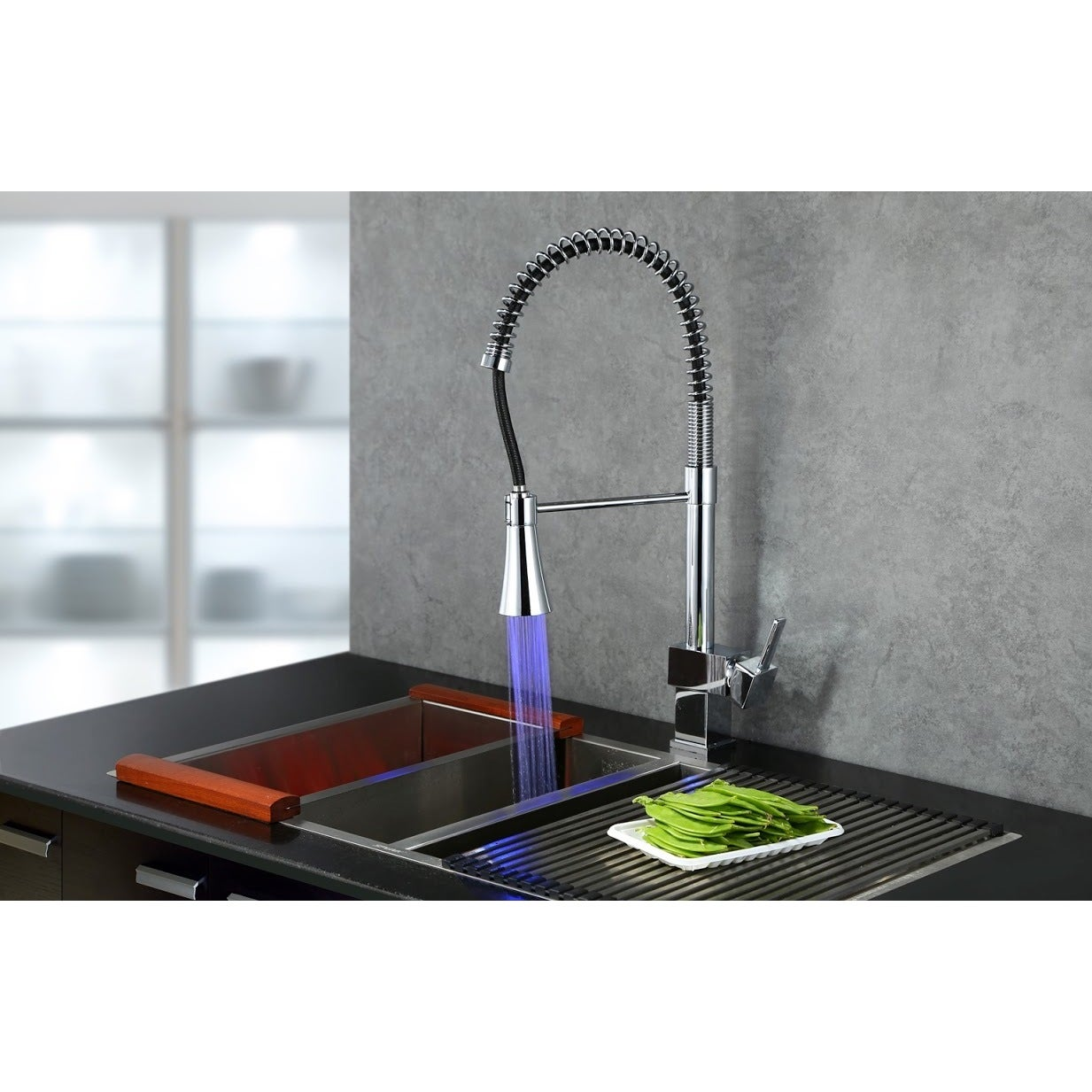 chrome faucets waterfall new kitchen sink finish led faucet design brass