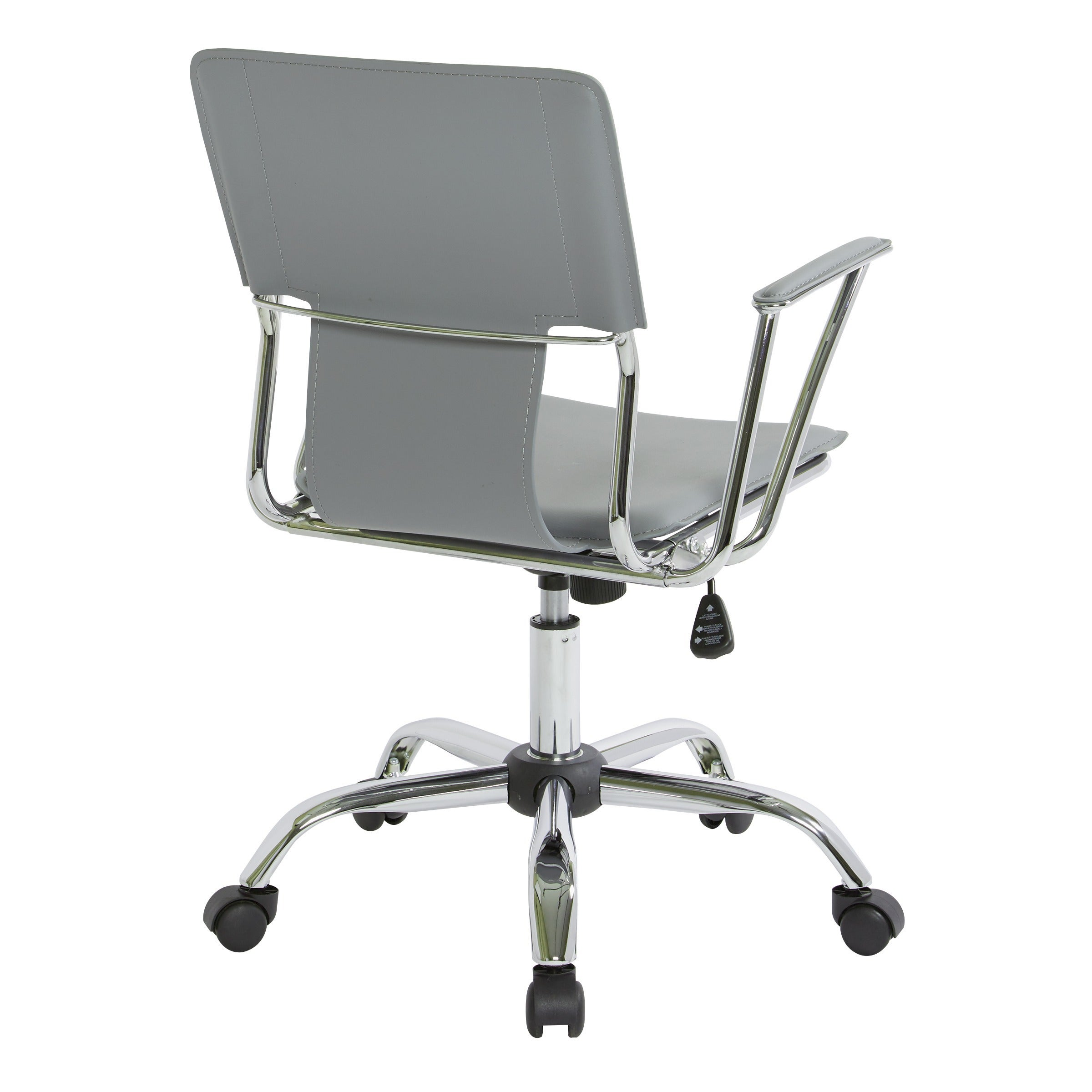 Ave Six Dorado Office Chair With Fixed Padded Arms And Chrome Finish Free Shipping Today 6468399