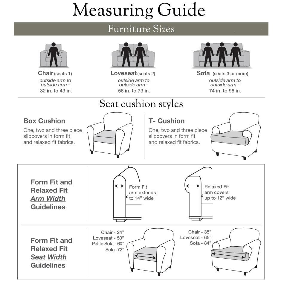 Shop Sure Fit Stretch Faux Leather 2 Piece T Cushion Sofa Slipcover